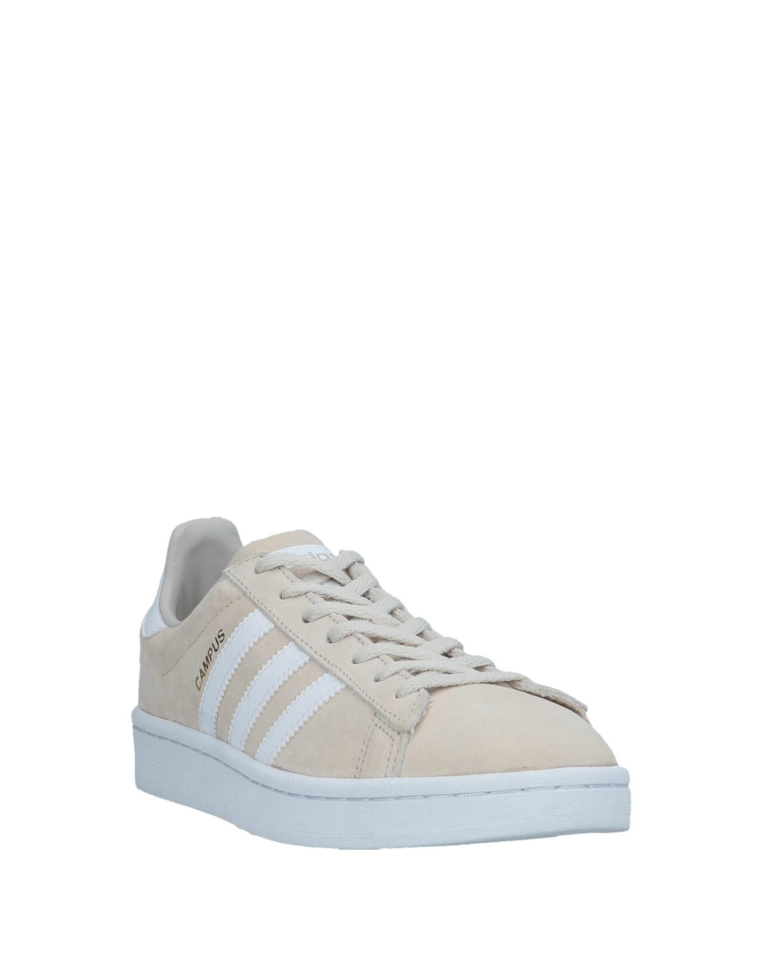 adidas Leather Low-tops & Sneakers in Beige (Natural)
