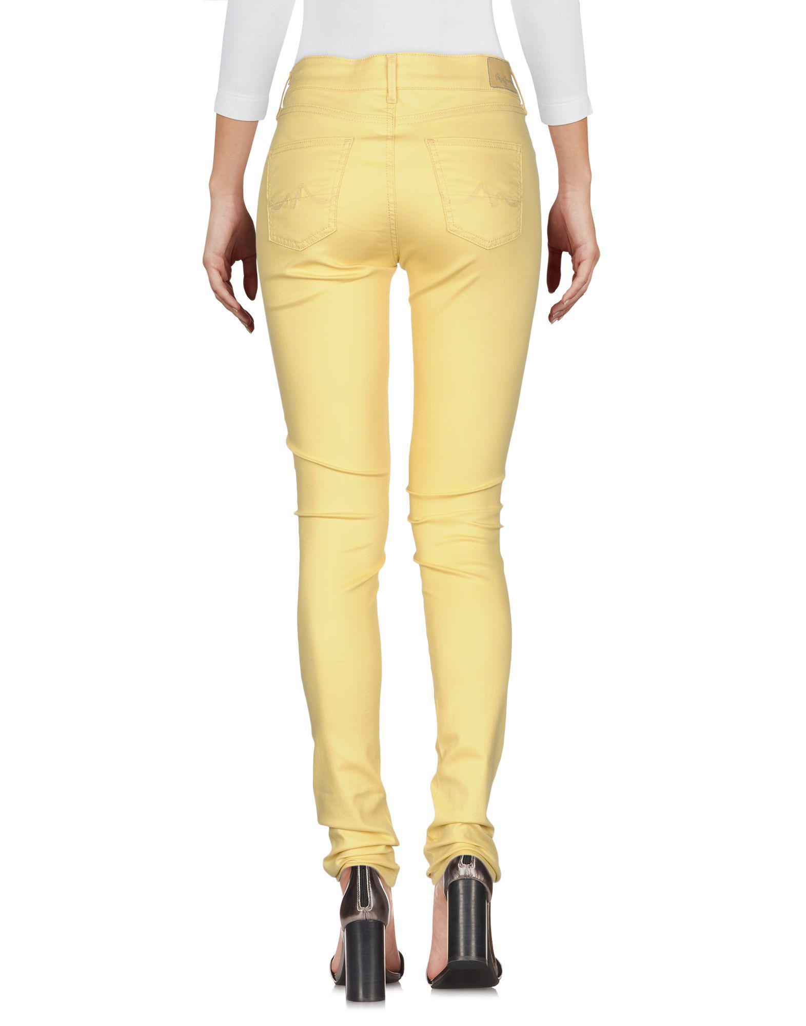 Pepe Jeans Denim Pants in Yellow