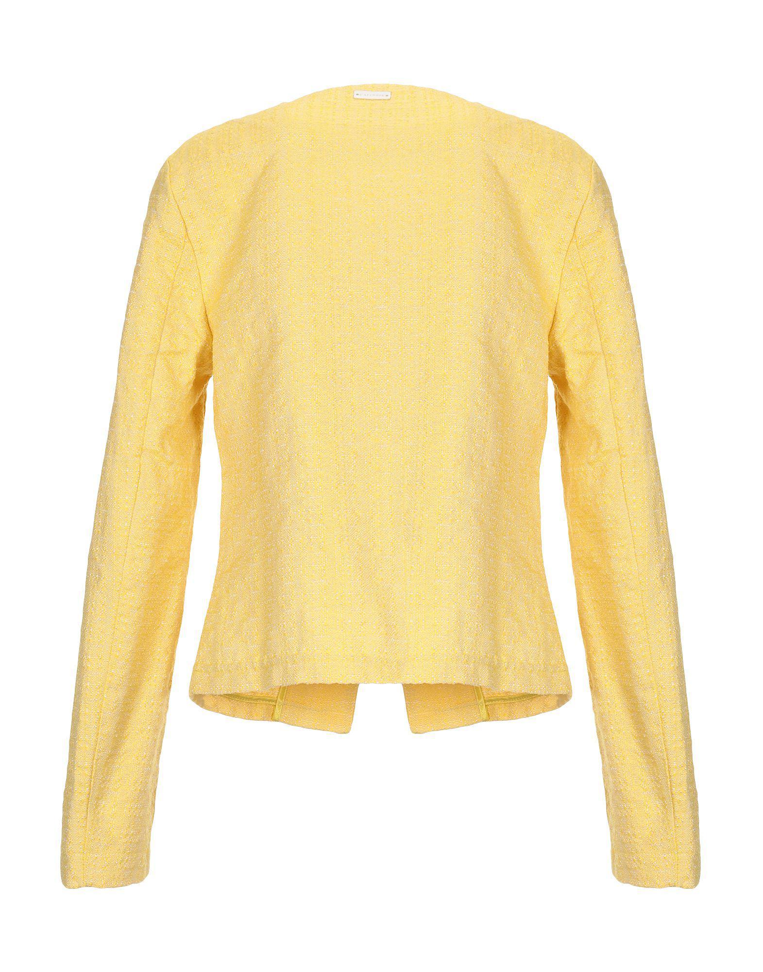 Veste Tweed CafeNoir en coloris Jaune