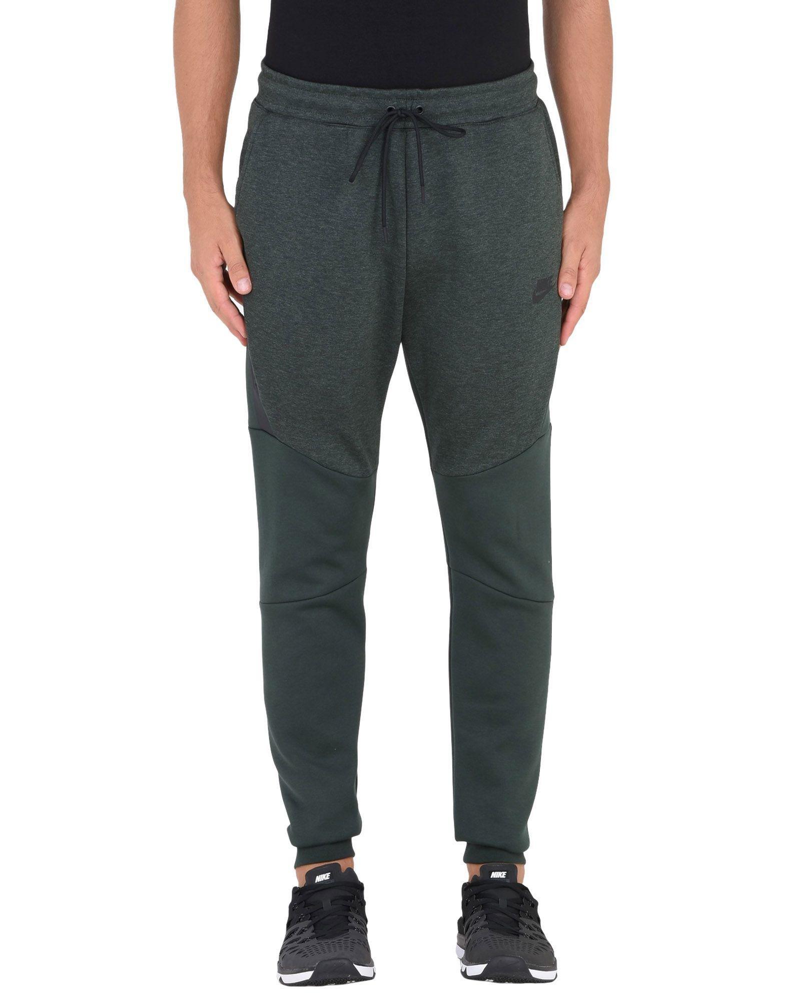 Nike Fleece Casual Trouser in Dark Green (Green) for Men