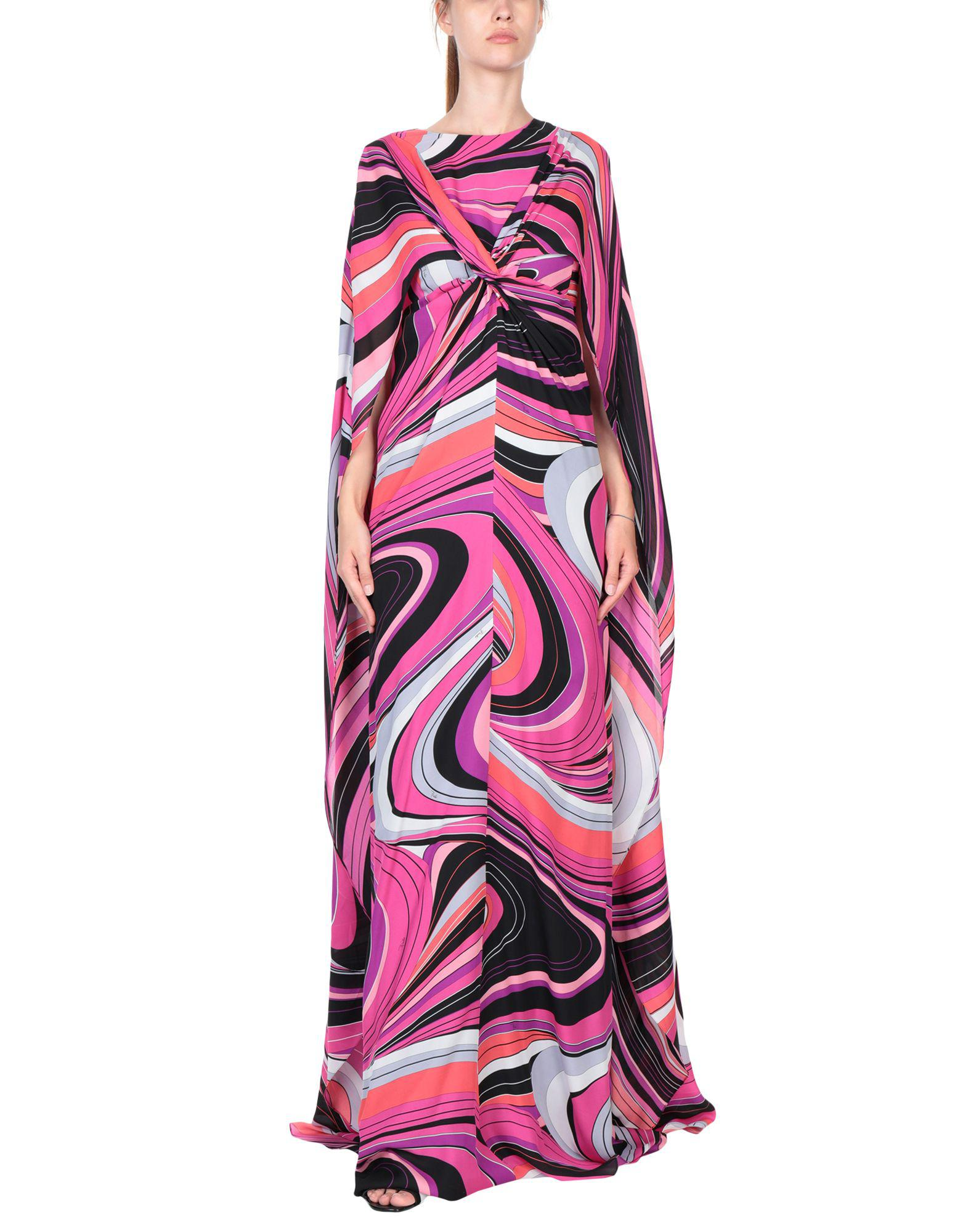 Robe longue Soie Emilio Pucci en coloris Rose