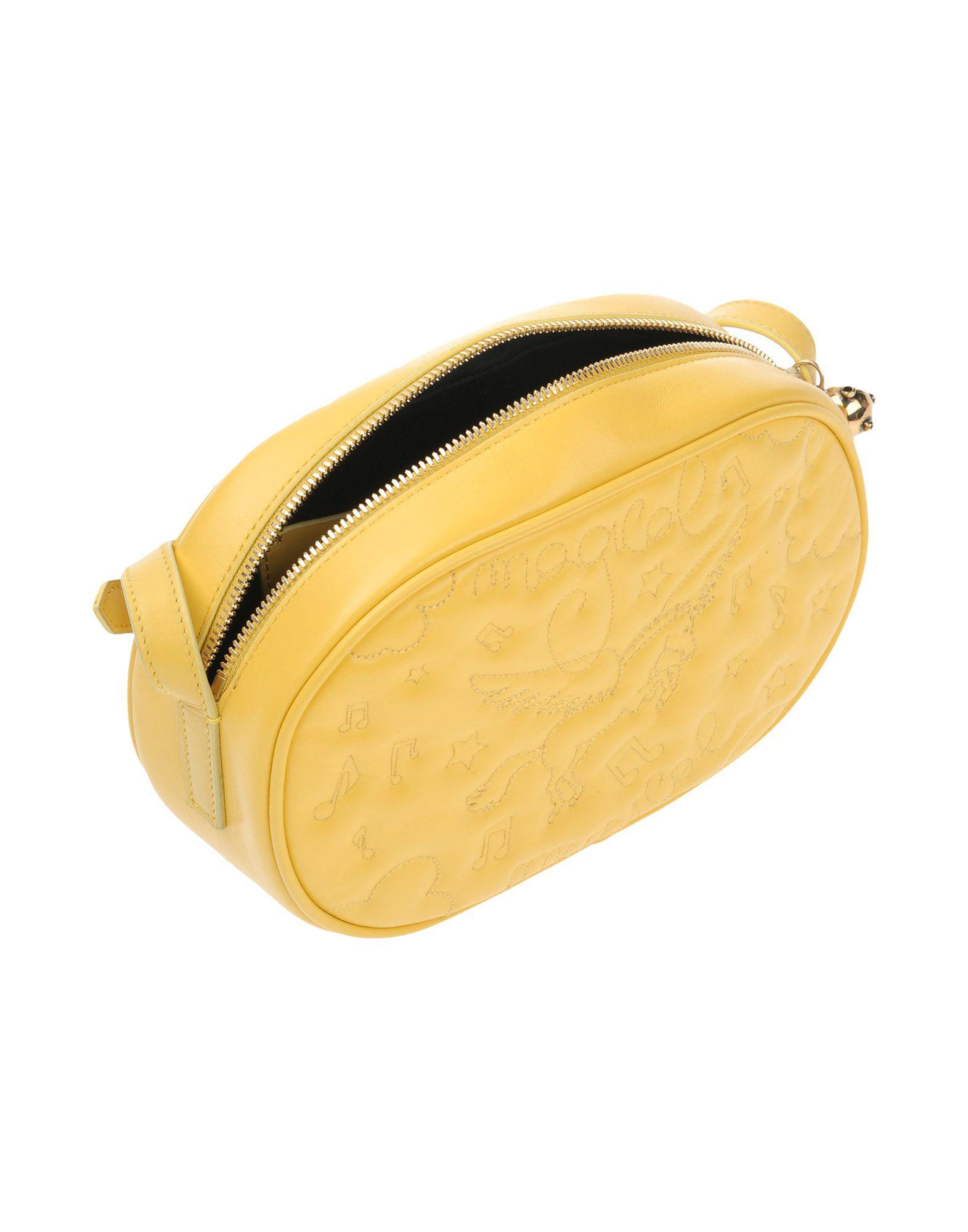 ALESSANDRO ENRIQUEZ Leather Cross-body Bag in Yellow