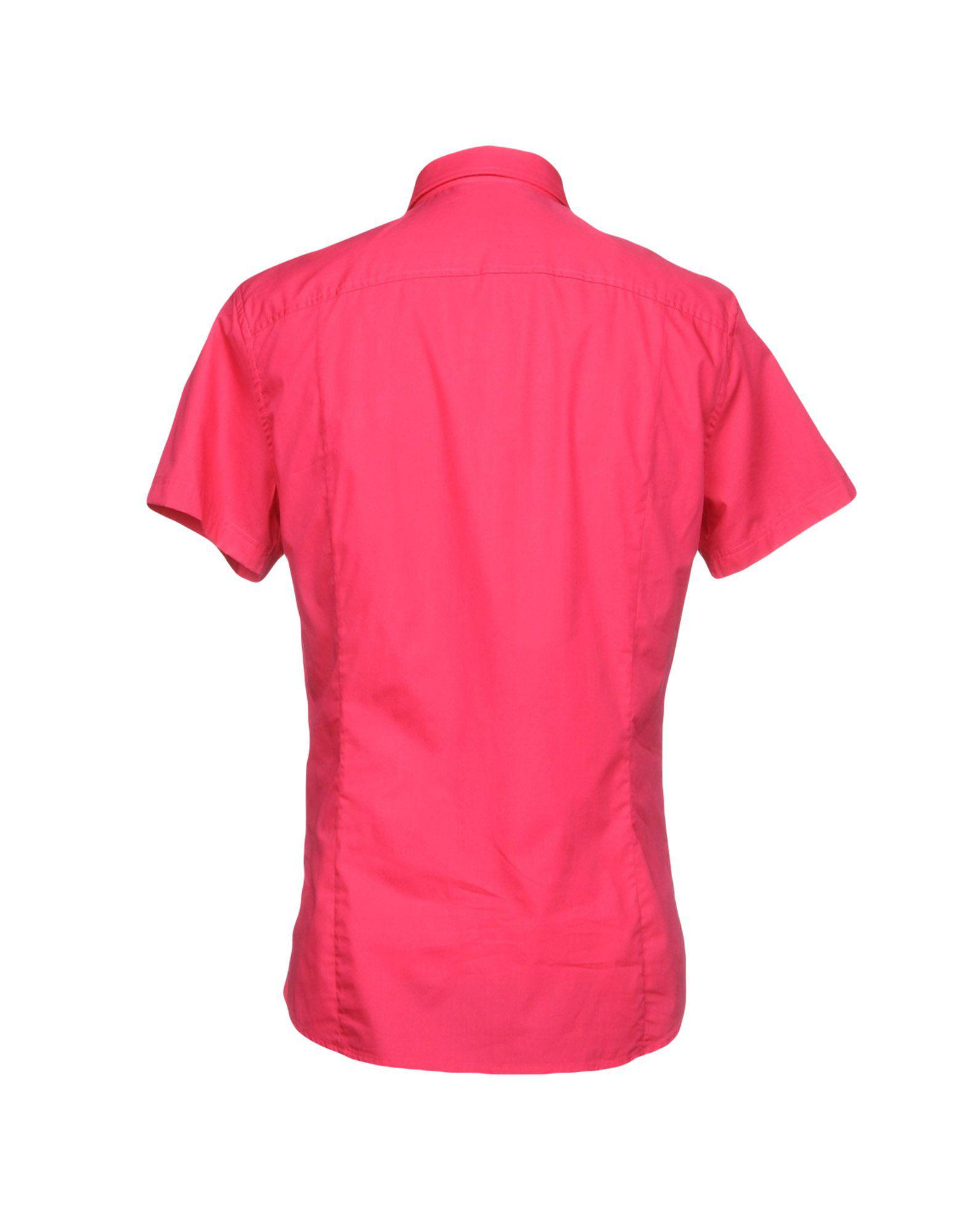 Versace Jeans Couture Cotton Shirt in Fuchsia (Pink) for Men