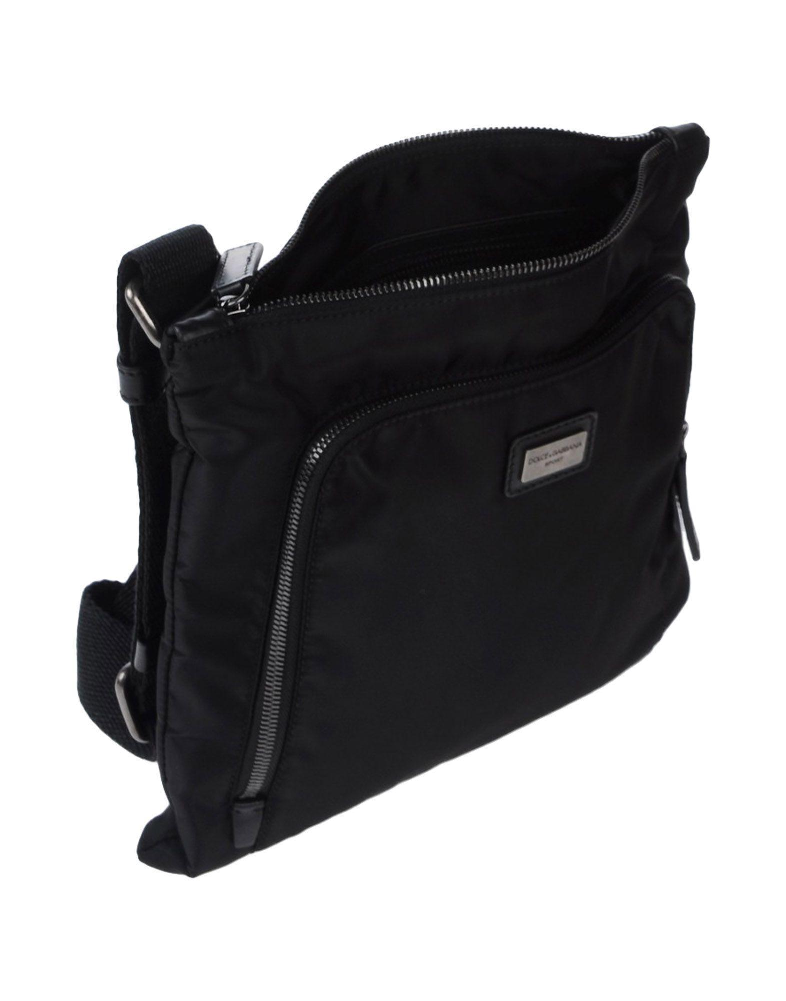 Dolce & Gabbana Cotton Cross-body Bag in Black for Men