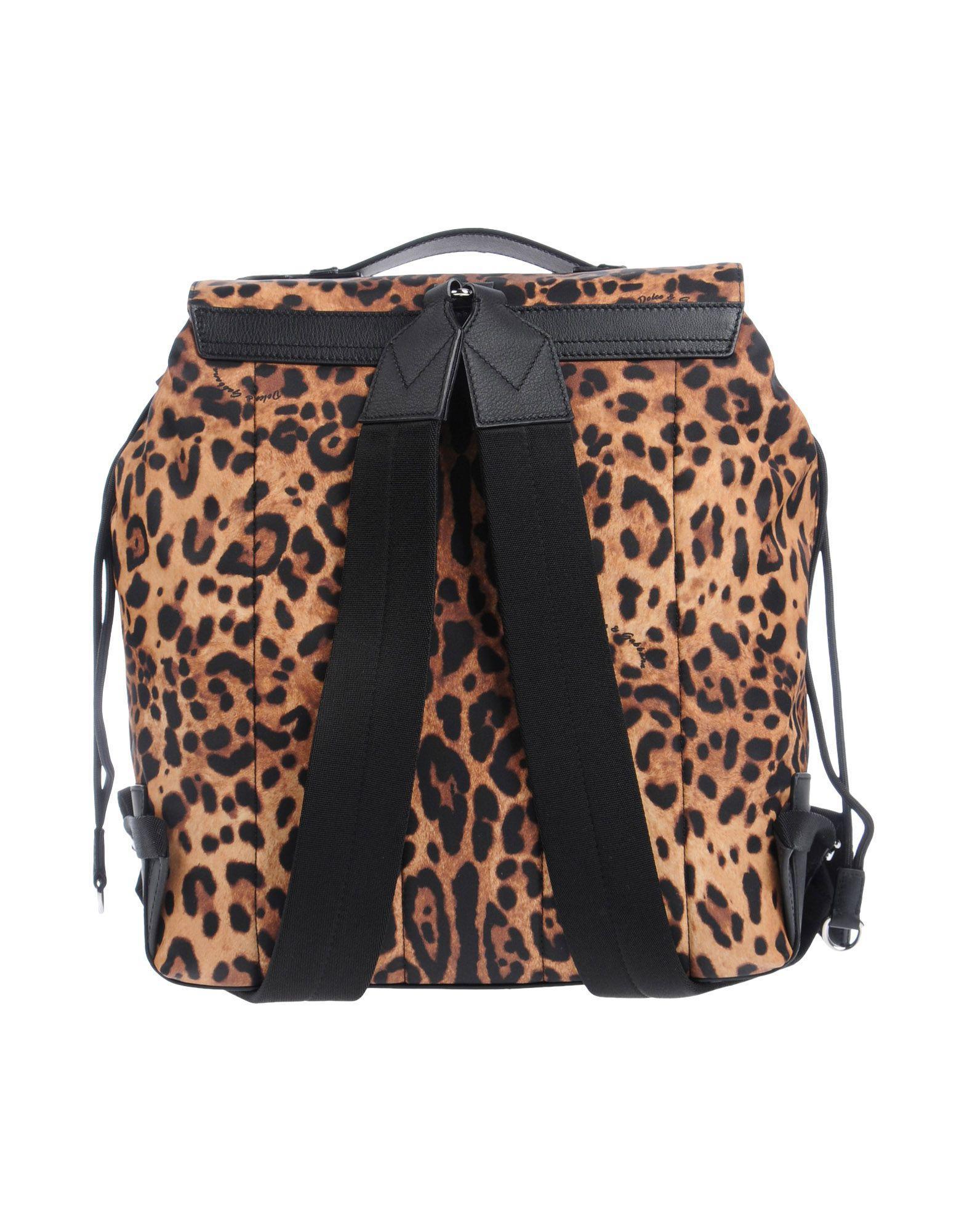 Dolce & Gabbana Leather Backpack For Men On Sale for Men