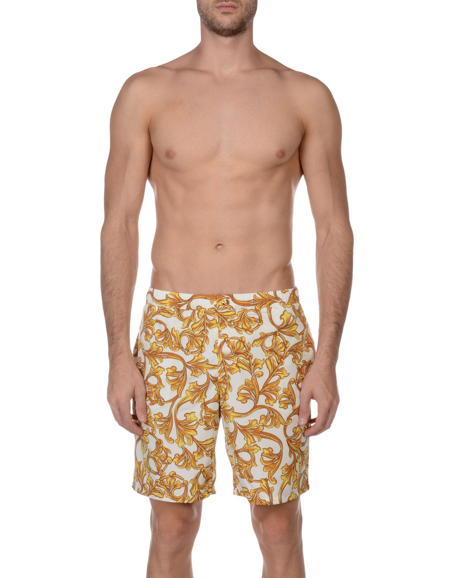 912a2c230a Versace Swim Trunks in White for Men - Lyst