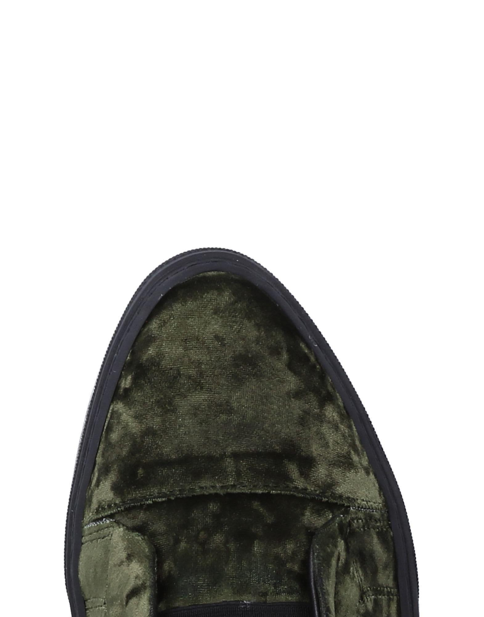 F.lli Bruglia Velvet Low-tops & Sneakers in Military Green (Green)