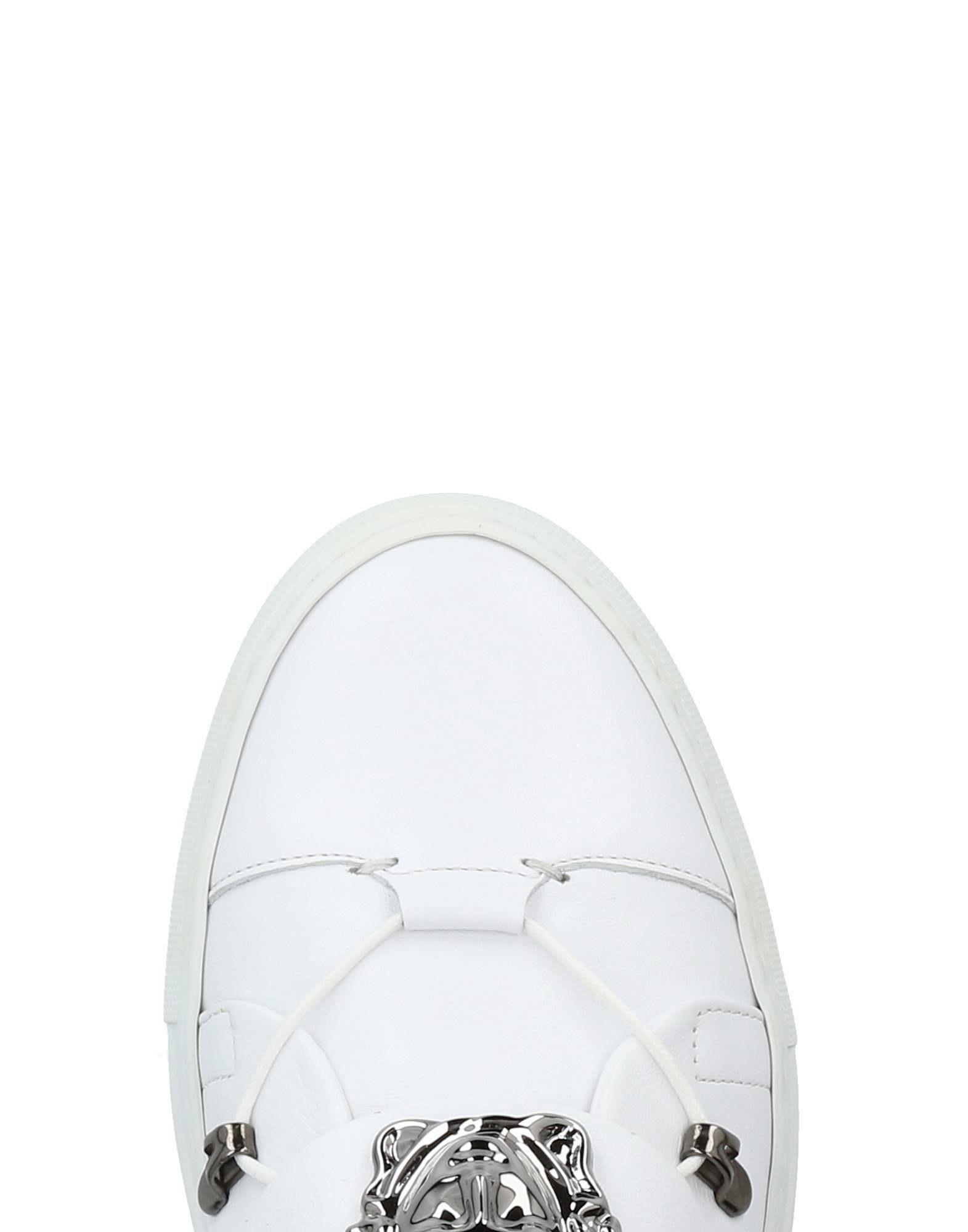 Sneakers abotinadas Versace de Cuero de color Blanco para hombre