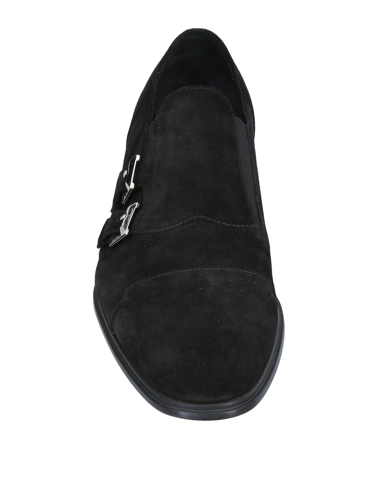 Cesare Paciotti Suede Loafer in Black for Men