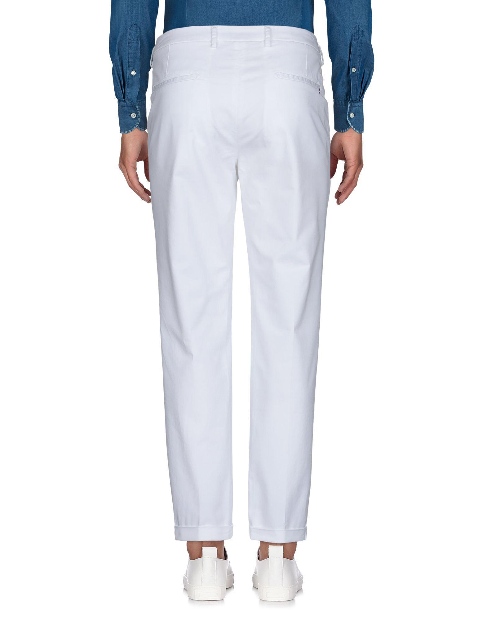 Yan Simmon Cotton Casual Trouser in White for Men