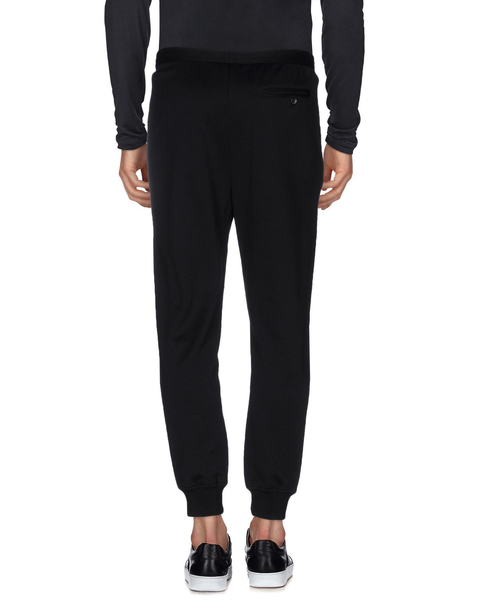 DSquared² Fleece Casual Pants in Black for Men