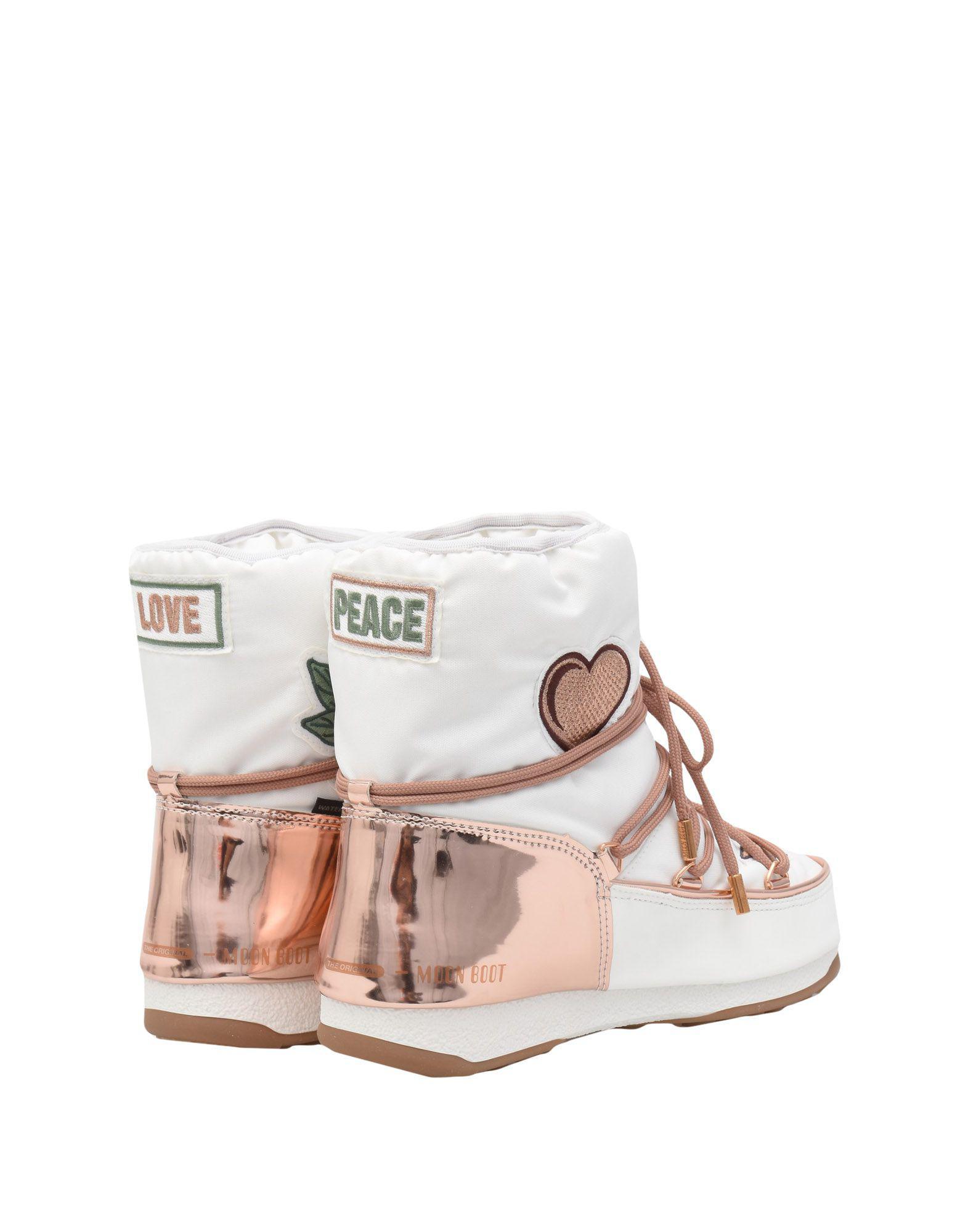 Botines de caña alta Moon Boot de color Blanco