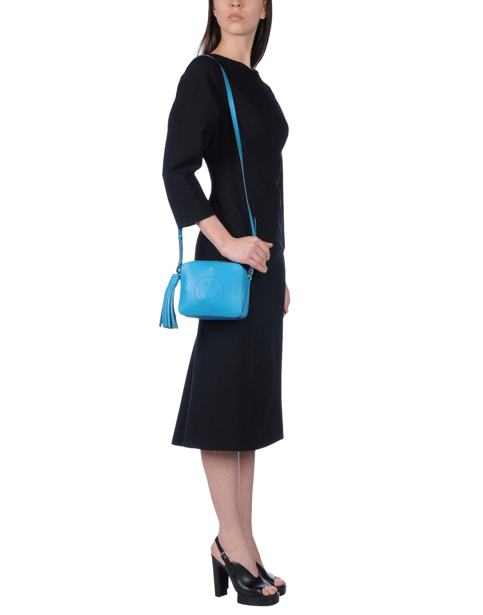 Anya Hindmarch Leather Cross-body Bag in Azure (Blue)
