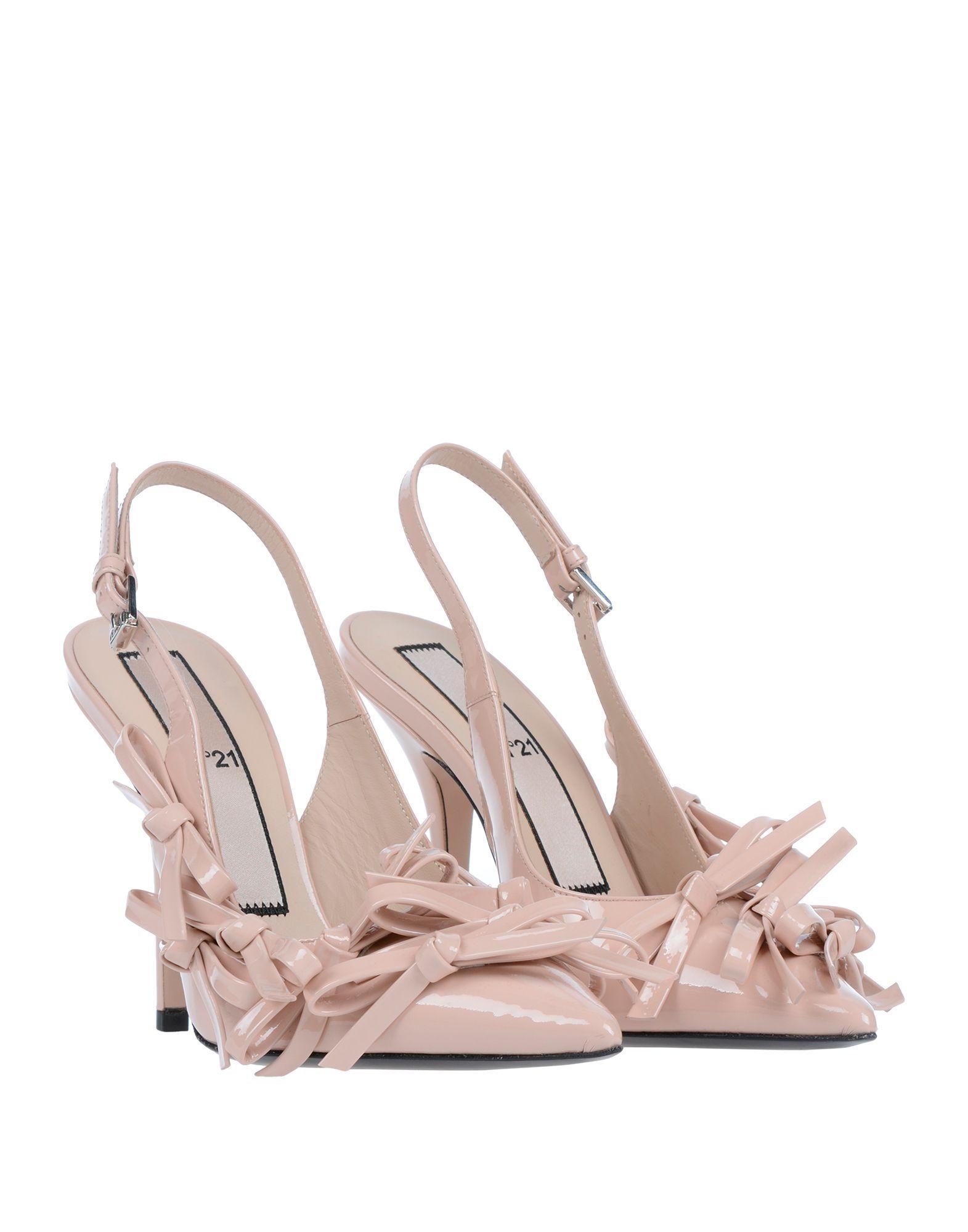 Zapatos de salón N°21 de Cuero de color Rosa