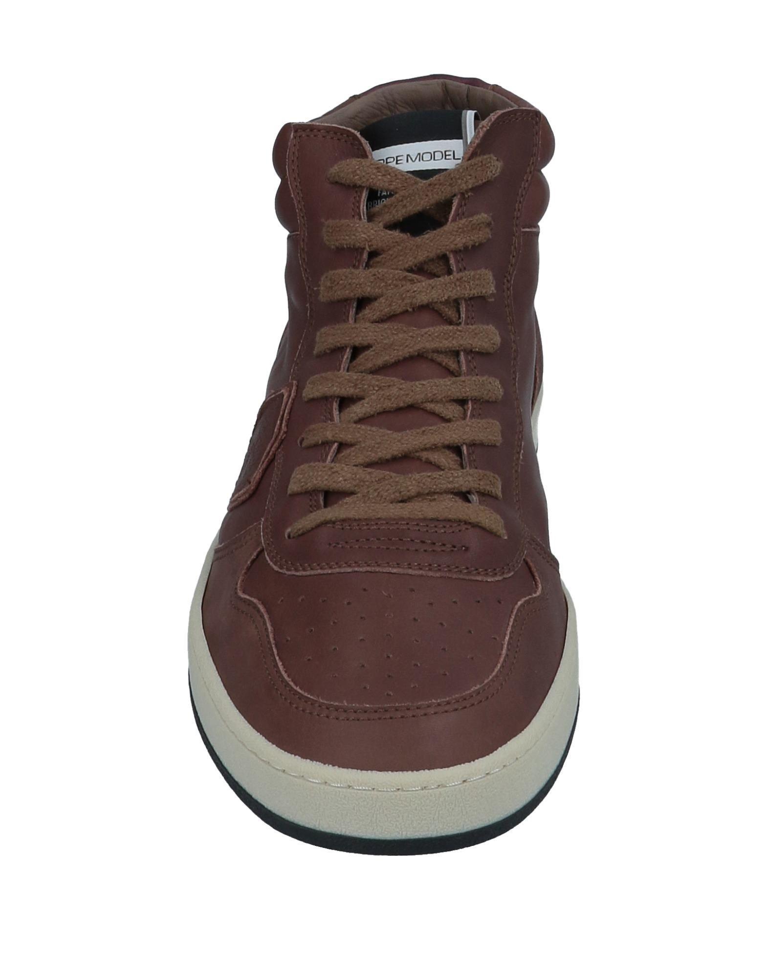 Sneakers abotinadas Philippe Model de Cuero de color Marrón para hombre