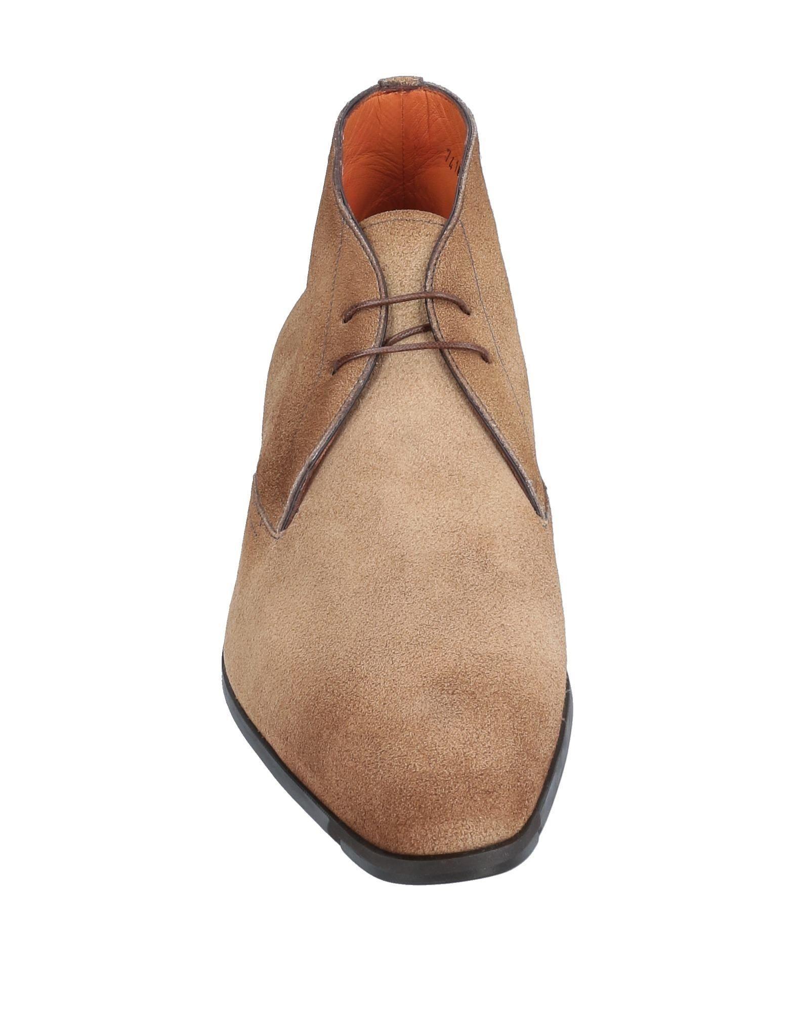 Botines de caña alta Santoni de Ante de color Marrón para hombre