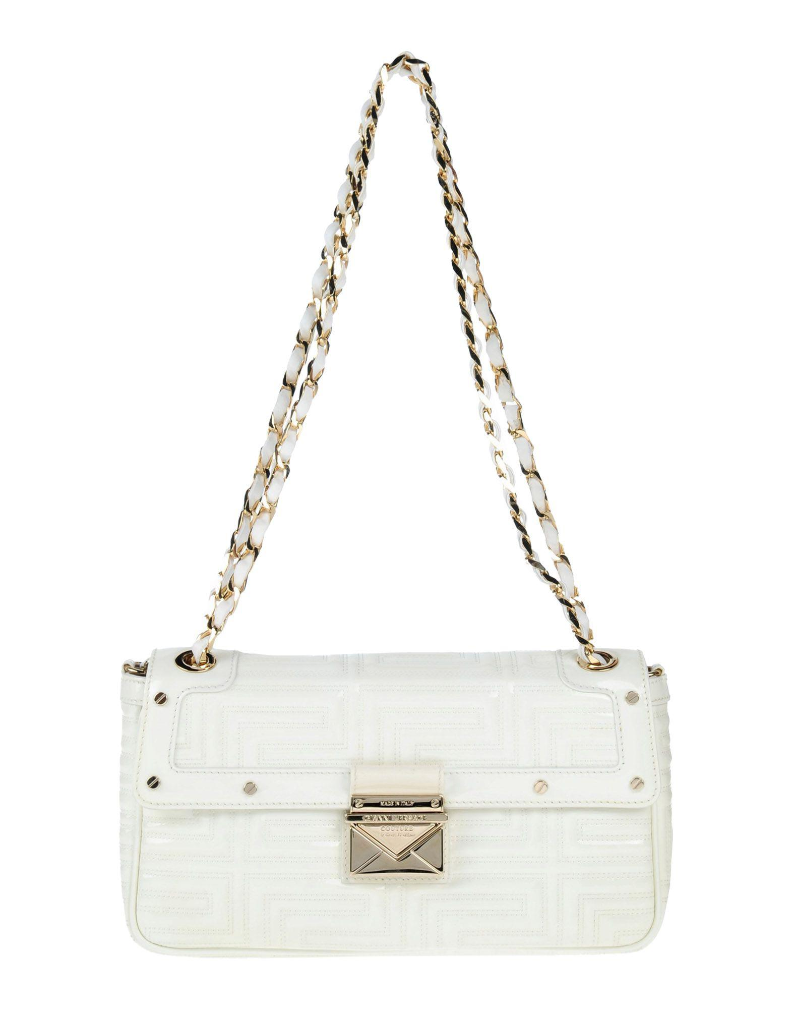 c64097483a Lyst - Gianni Versace Couture Shoulder Bag in White