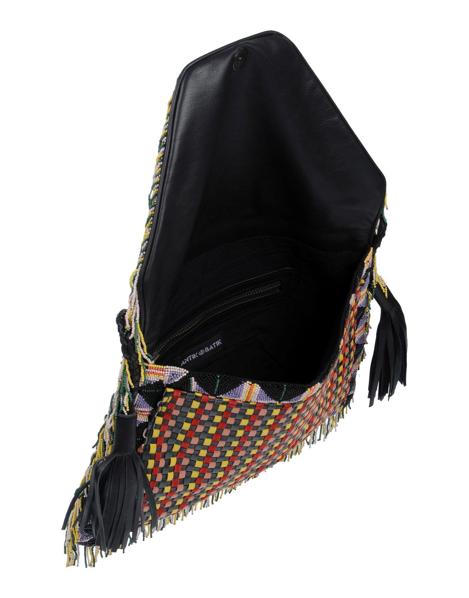 Antik Batik Leather Cross-body Bag in Black