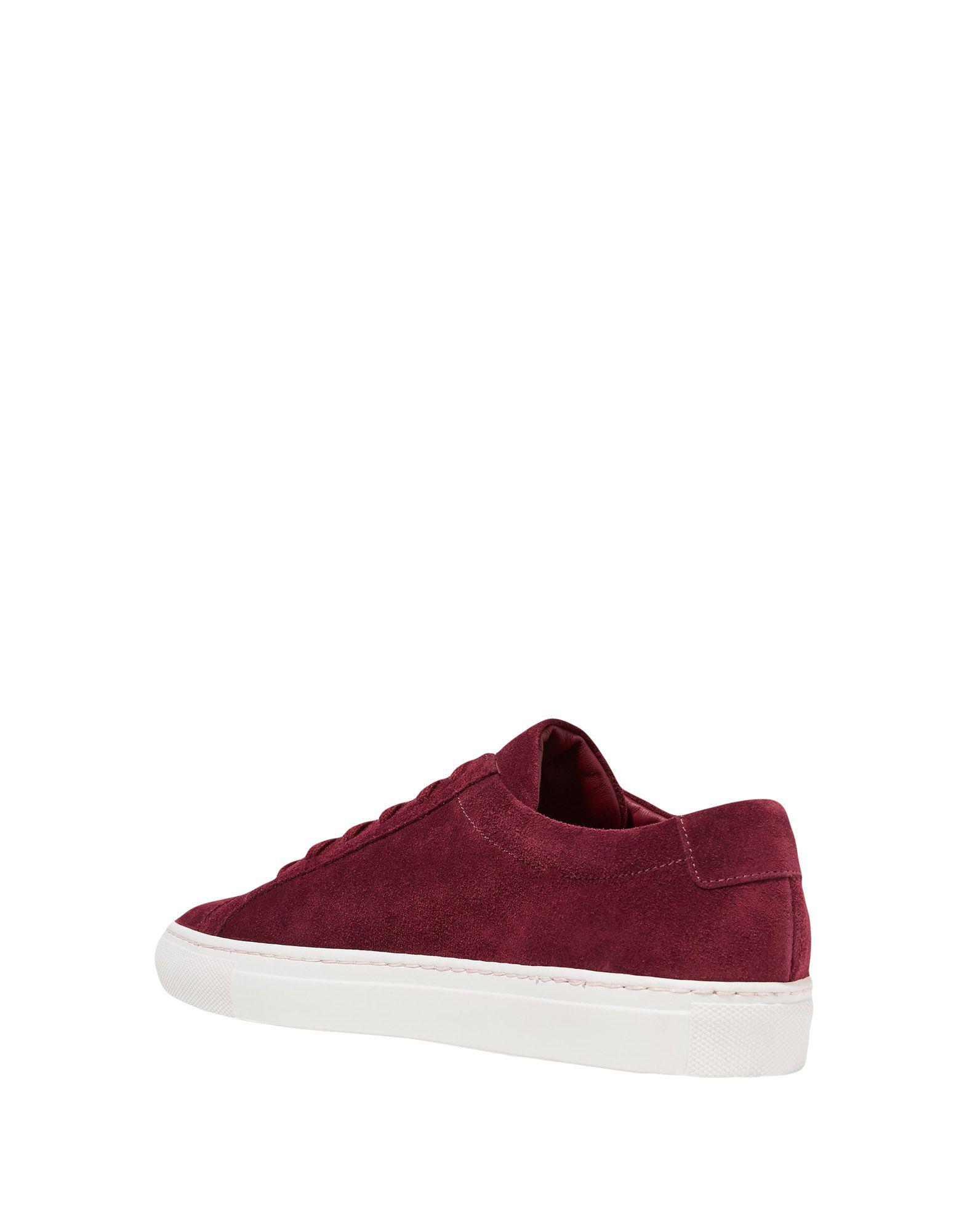 Common Projects Suede Low-tops & Sneakers in Maroon (Purple)