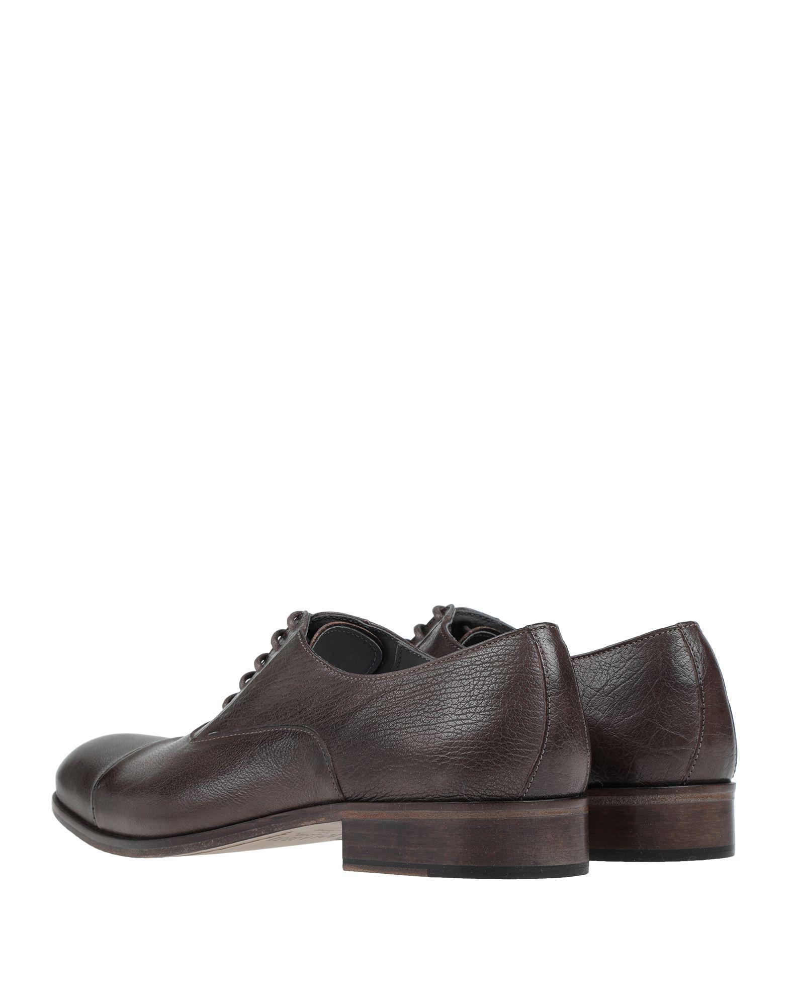 Zapatos de cordones Pollini de Cuero de color Marrón para hombre