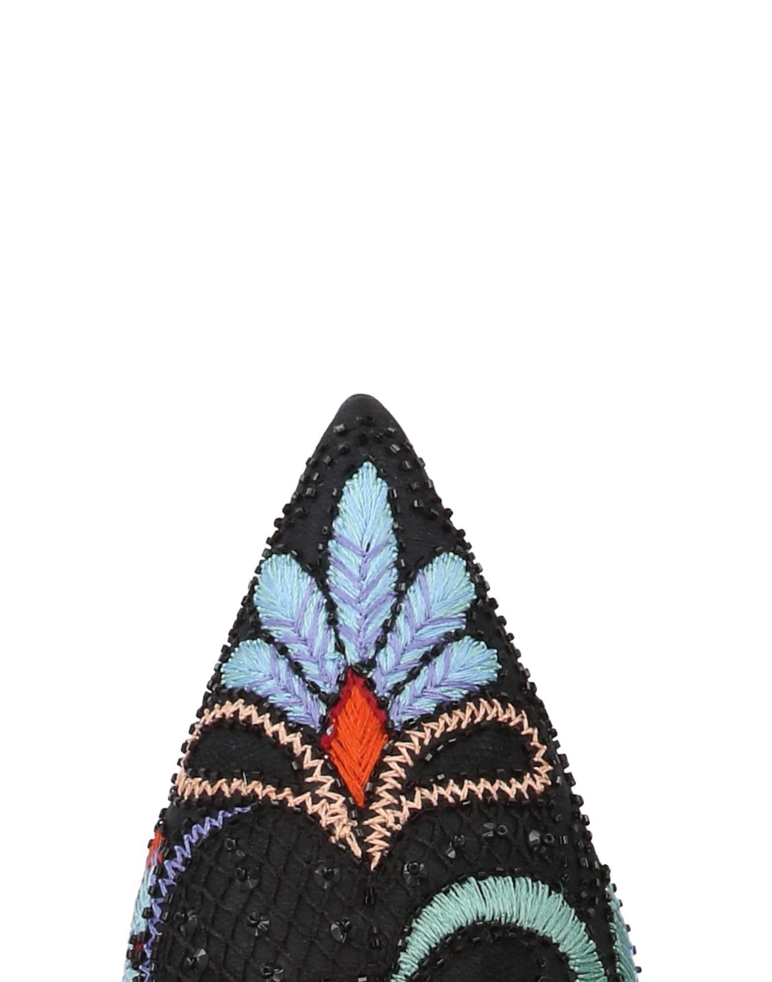 Mules & Zuecos Alberta Ferretti de Raso de color Negro