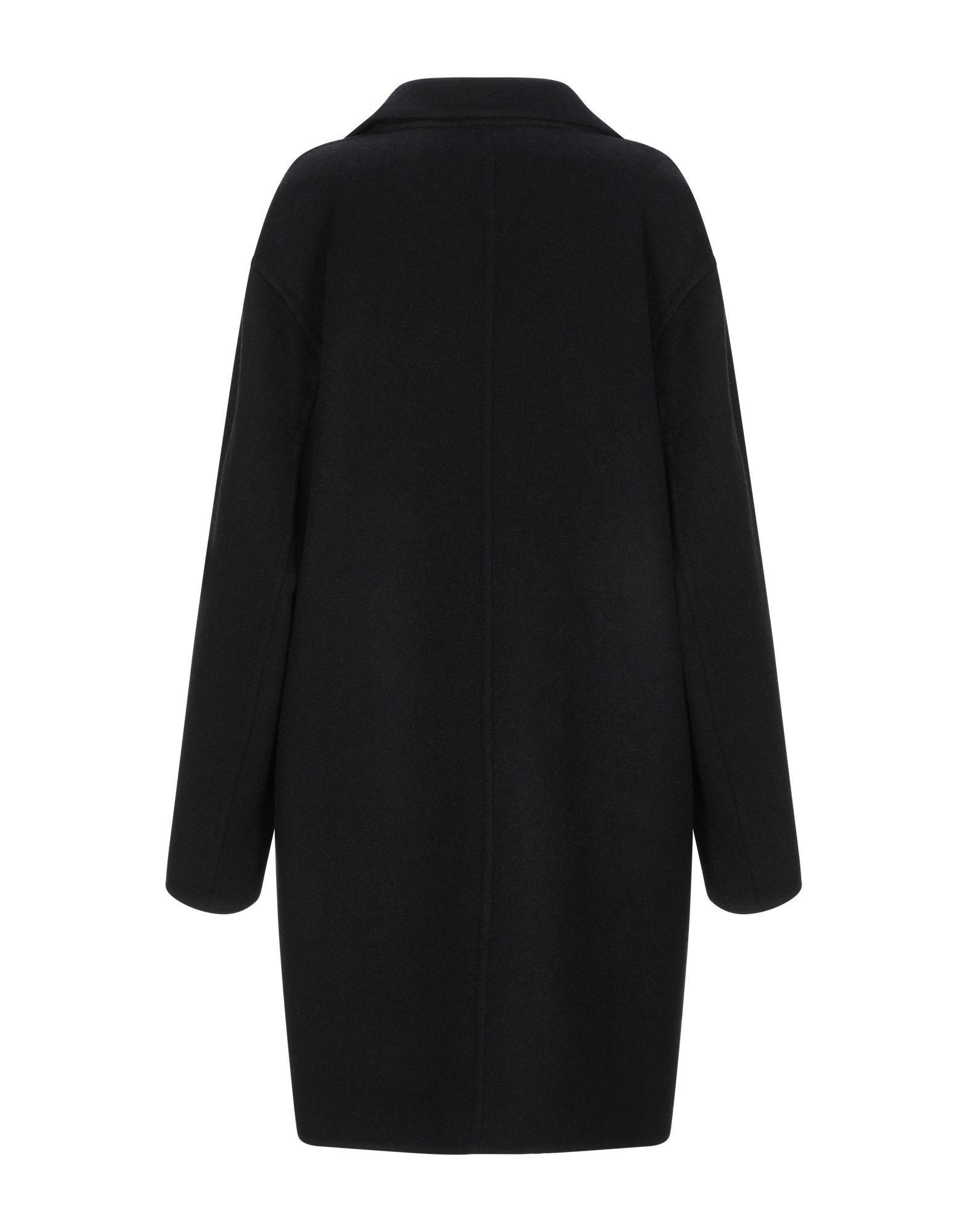 Manteau long Laines Caractere en coloris Noir YRO2R