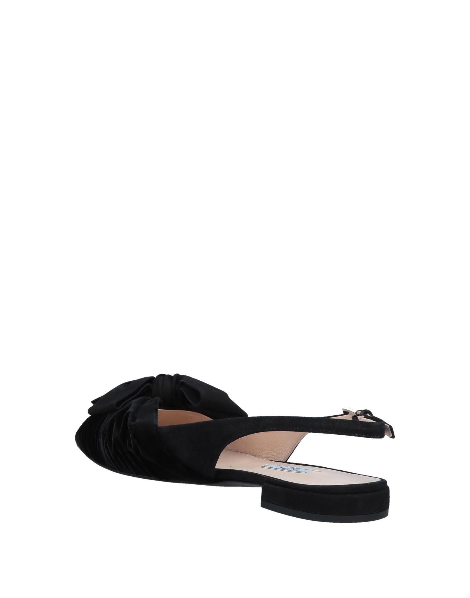 30c89834e4a Prada Ballet Flats in Black - Lyst