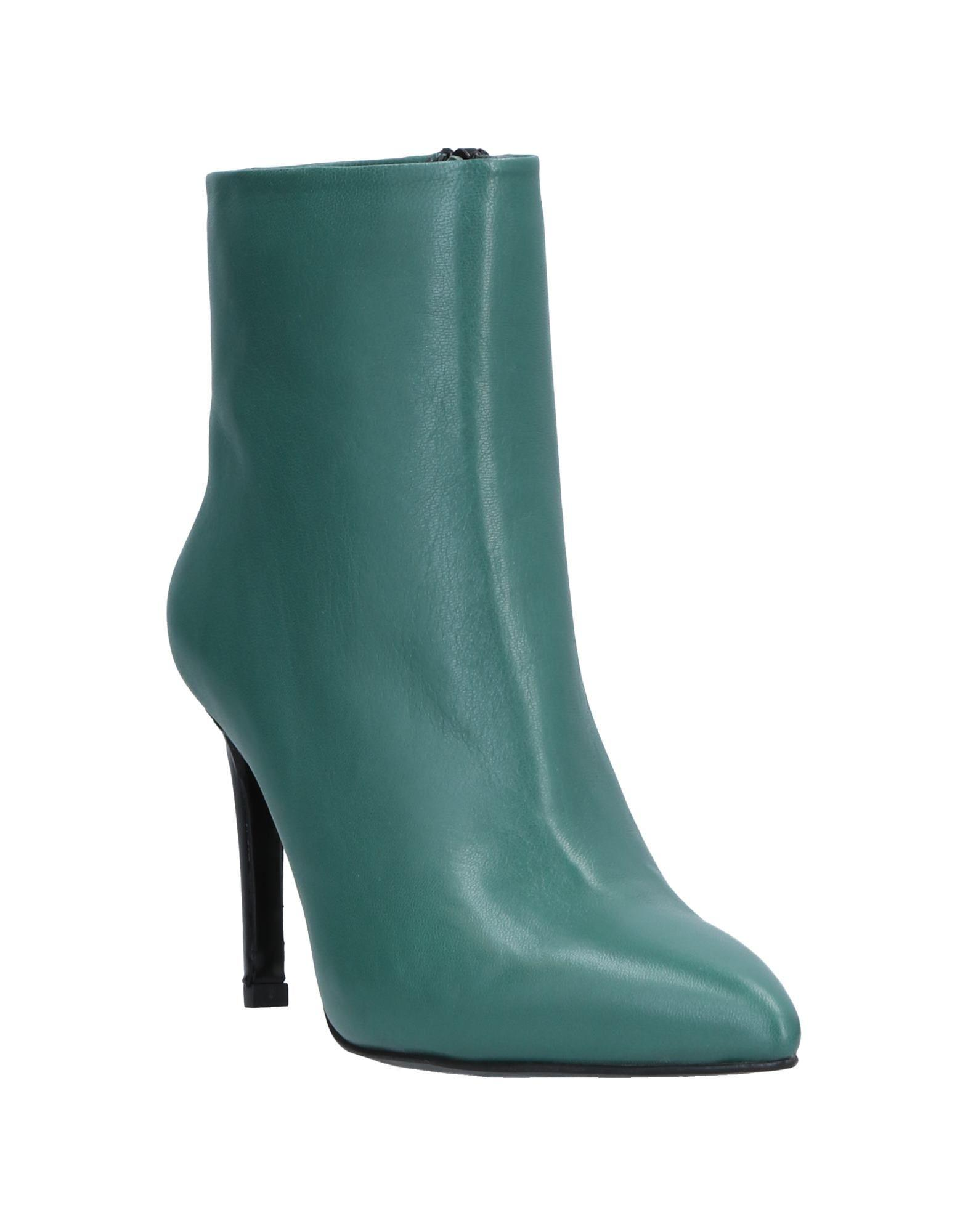 Gianni Marra Leather Ankle Boots in Green