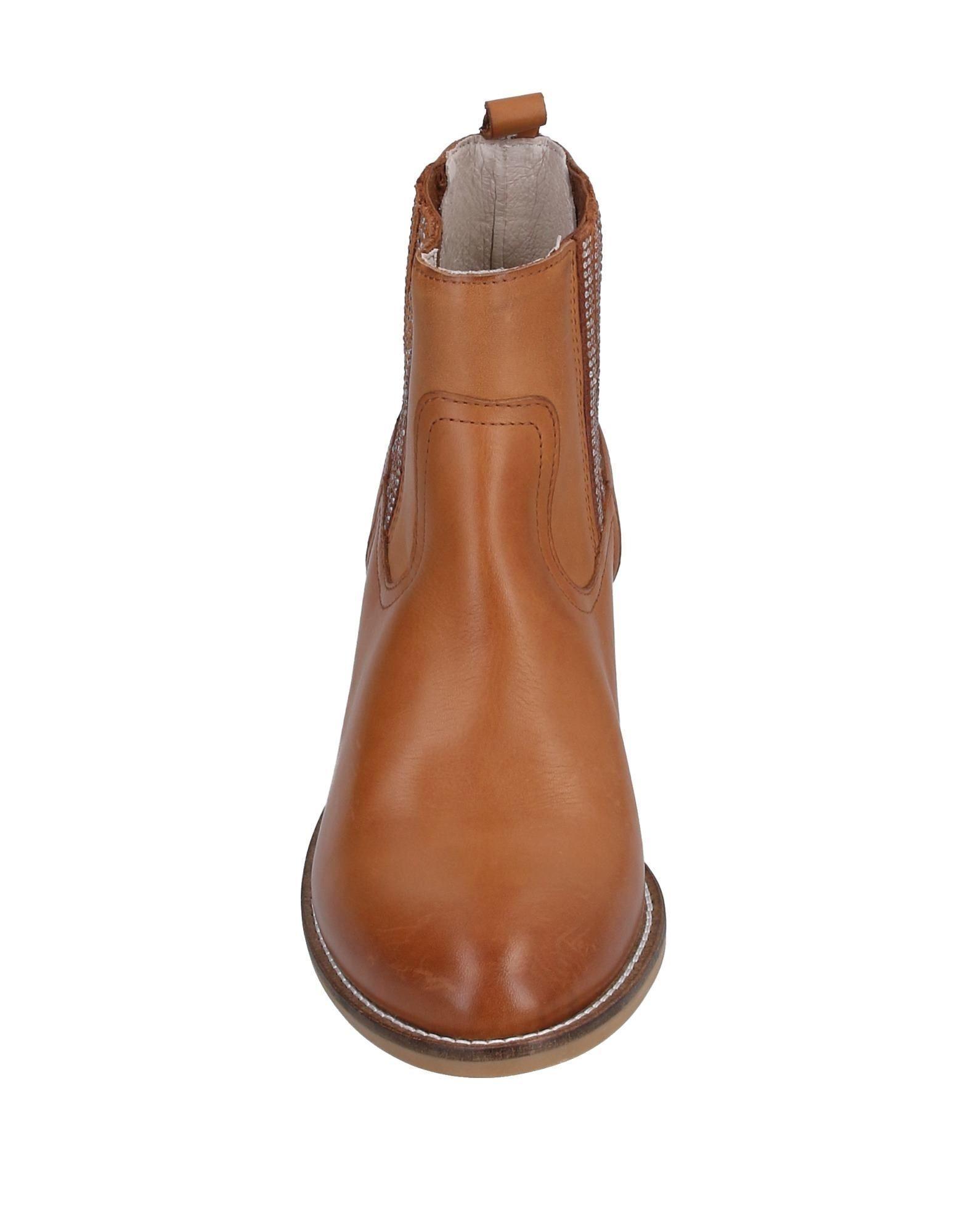 Botines de caña alta Guess de Cuero de color Marrón