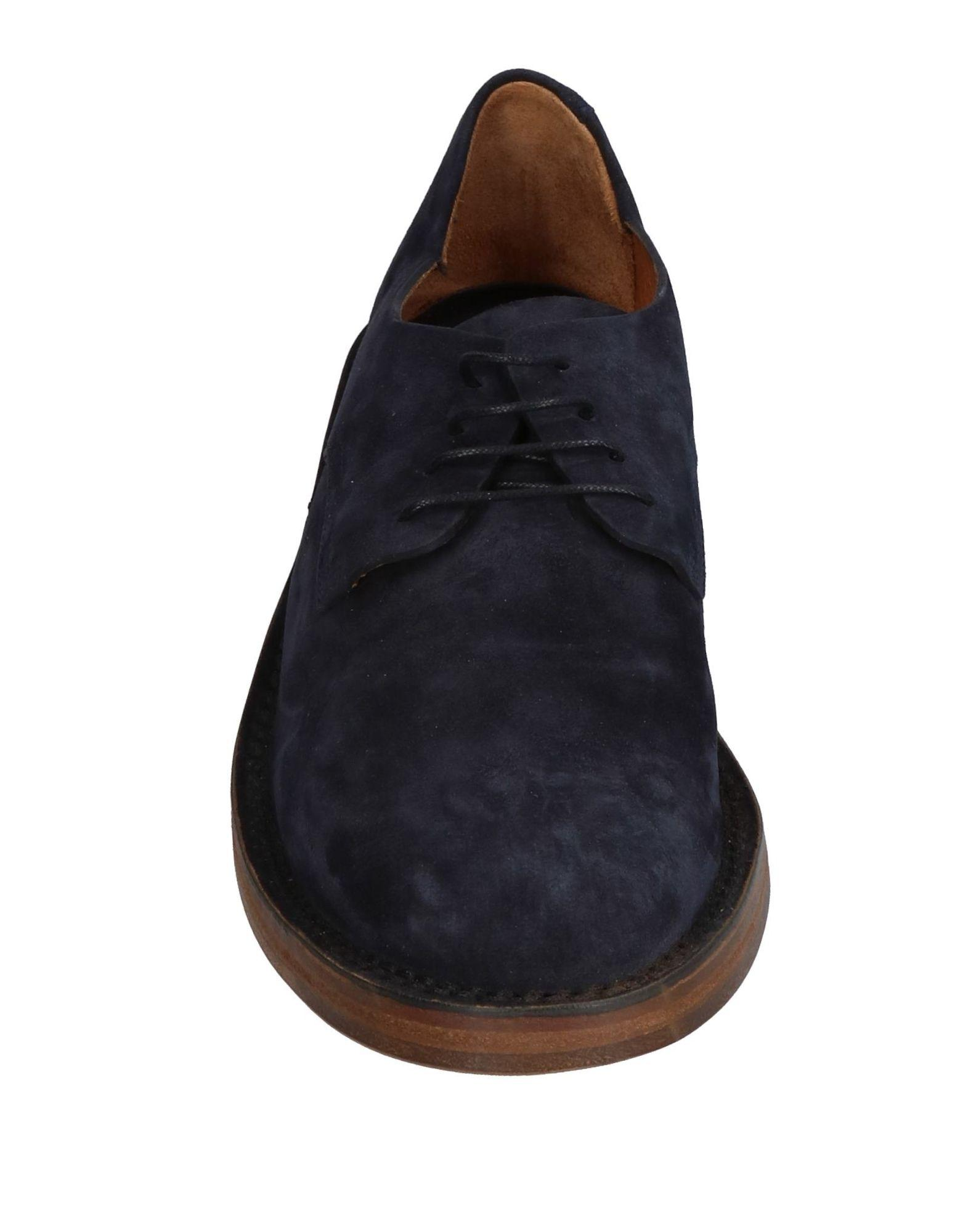 Buttero Leather Lace-up Shoe in Dark Blue (Blue) for Men