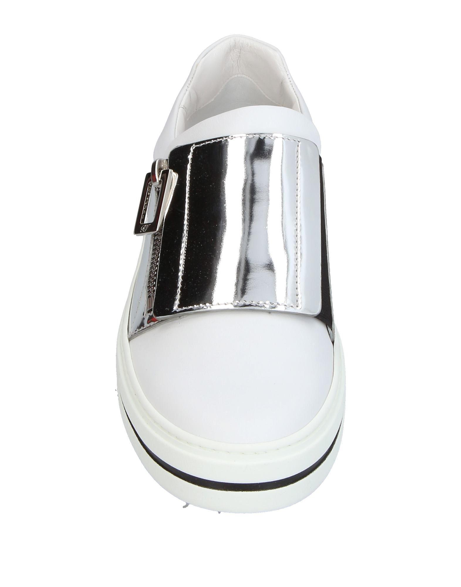 Roger Vivier Leather Low-tops & Sneakers in Silver (Metallic)