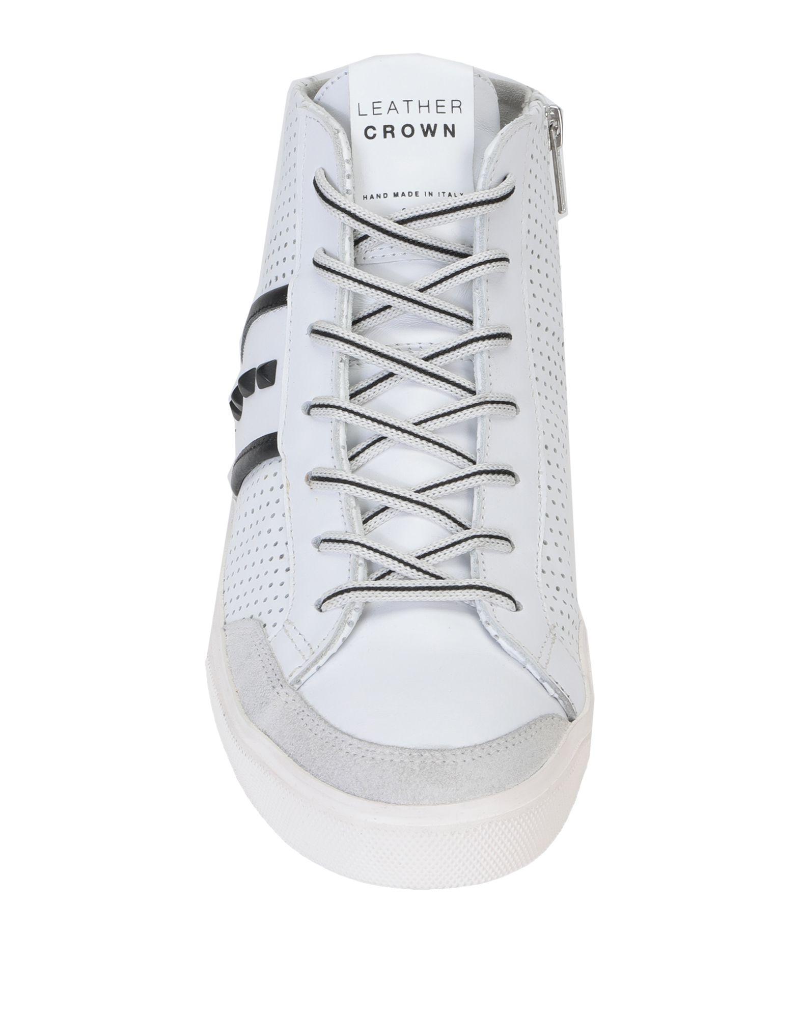 Sneakers abotinadas Leather Crown de Ante de color Blanco para hombre