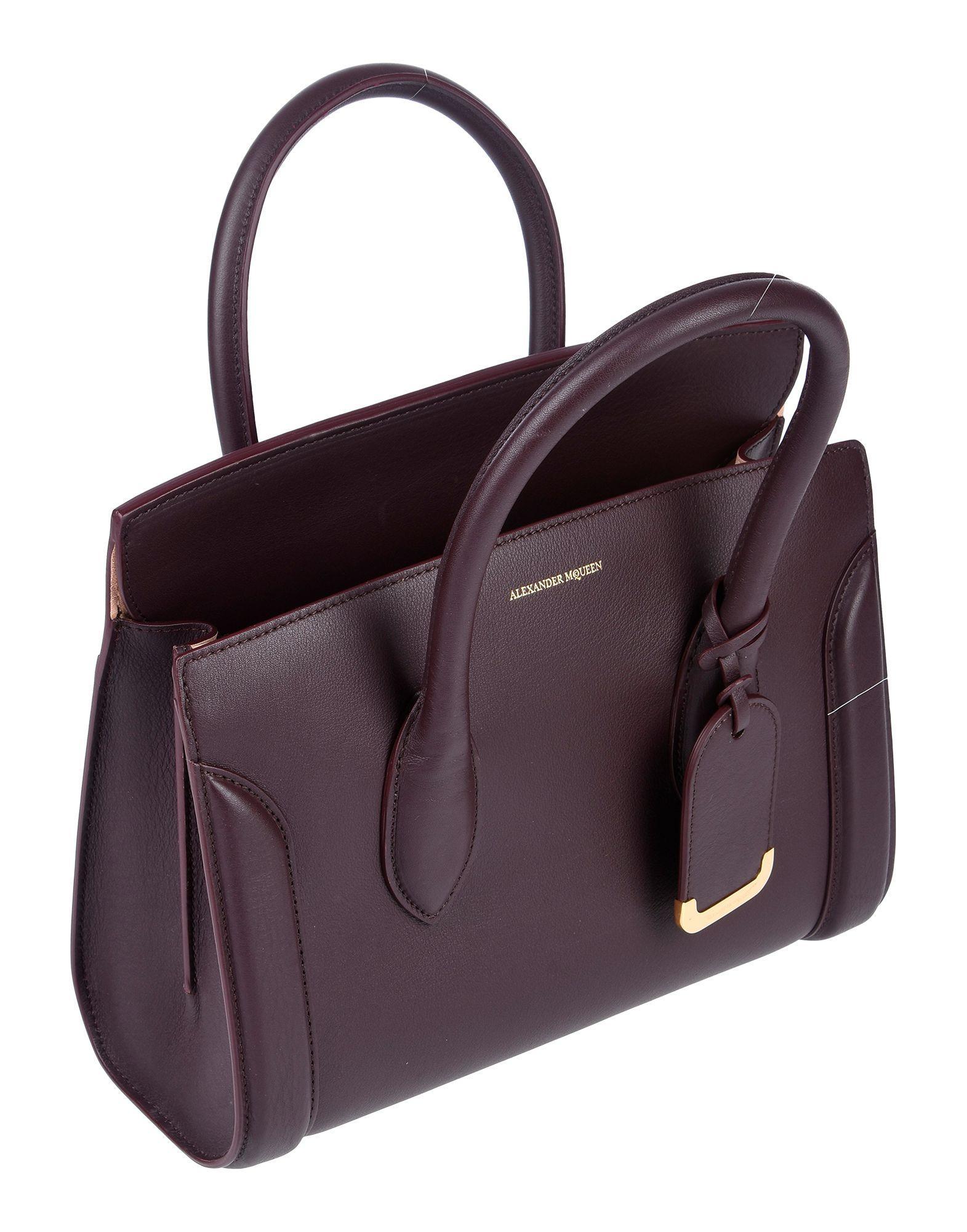 Alexander McQueen Leder Handtaschen in Lila O0RV1