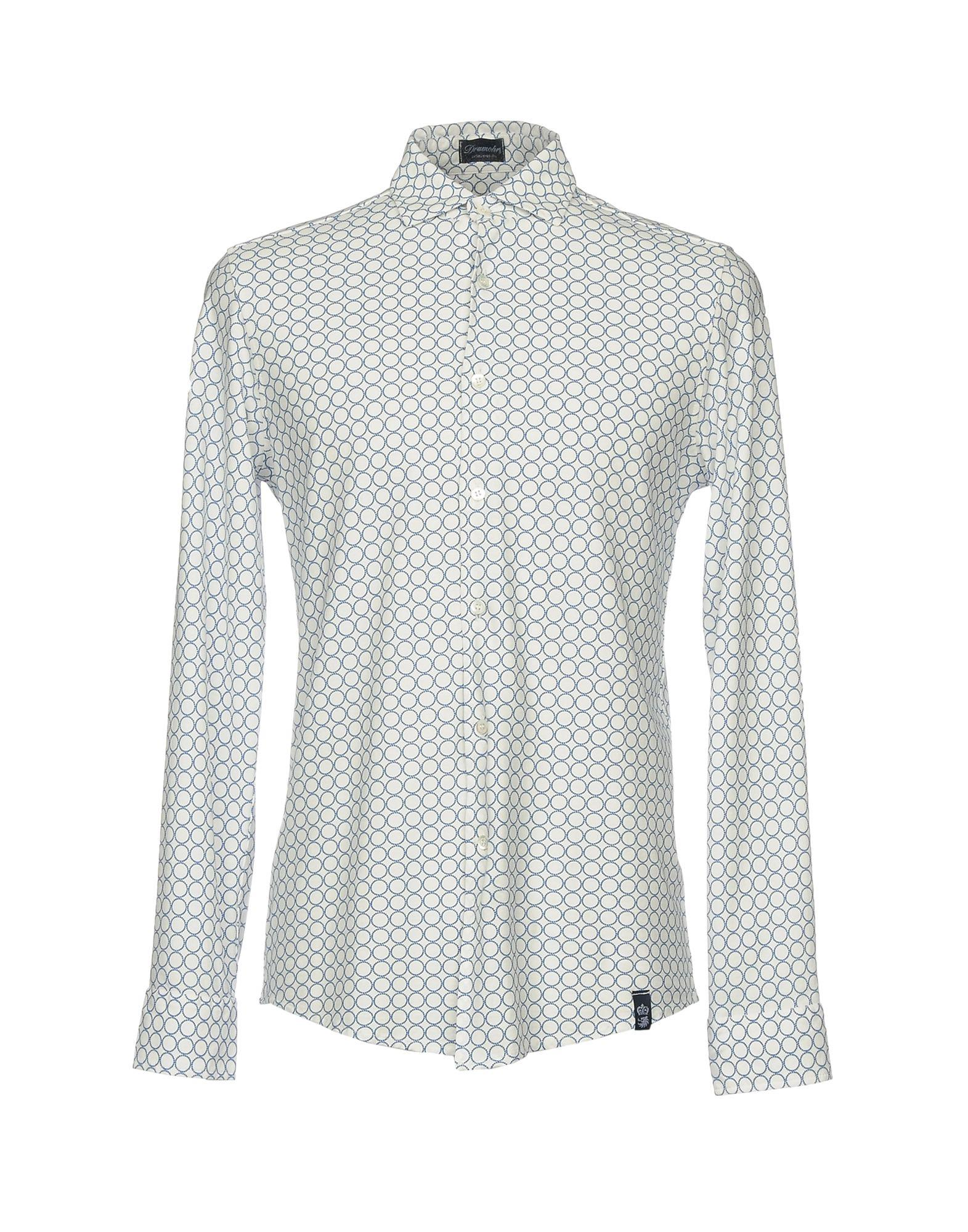 White casual shirt Drumohr Discount Limited Edition Discount Explore Outlet Order Best Cheap Price Latest Collections Cheap Price HWHavBwefs