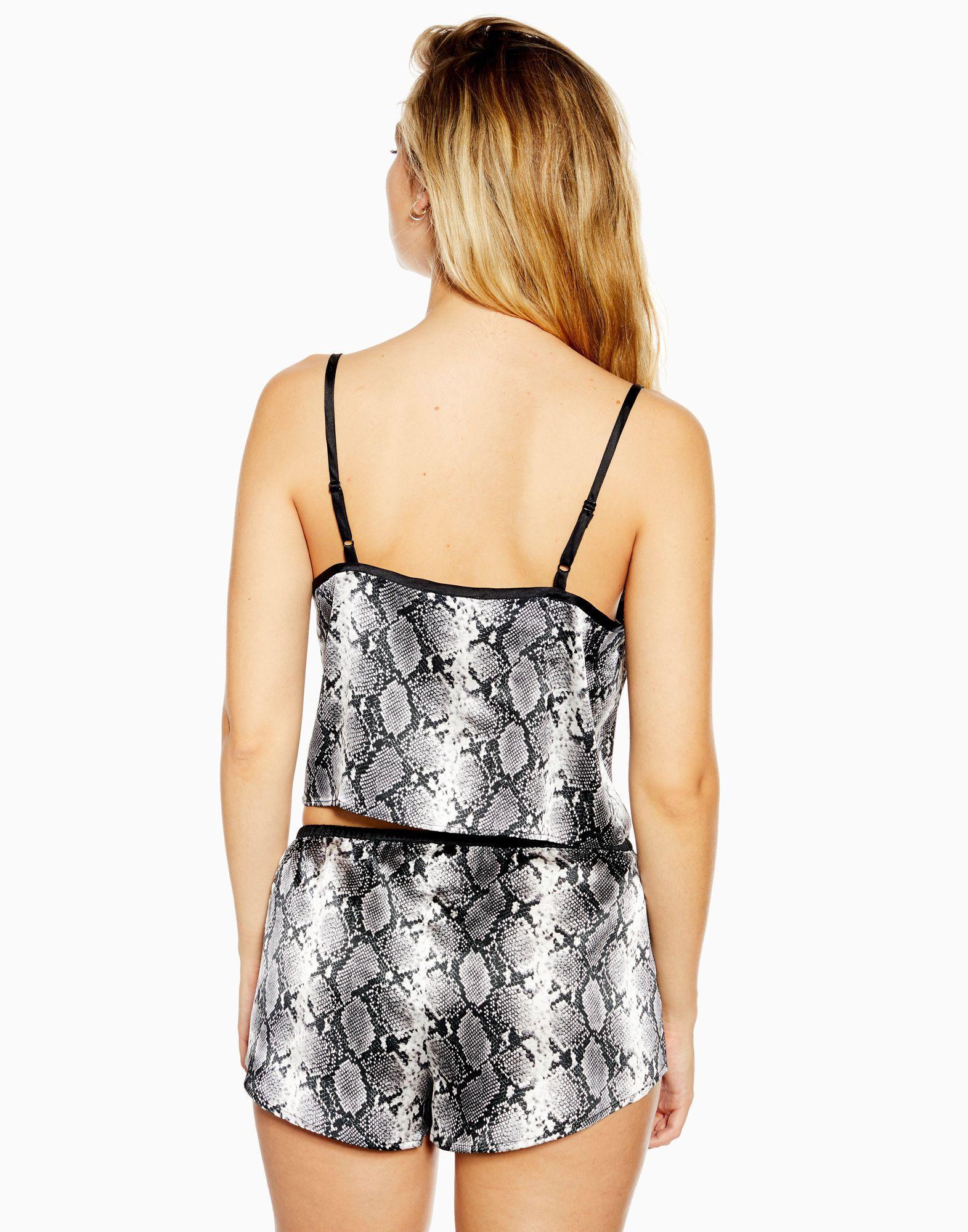 Pijama TOPSHOP de Raso de color Negro