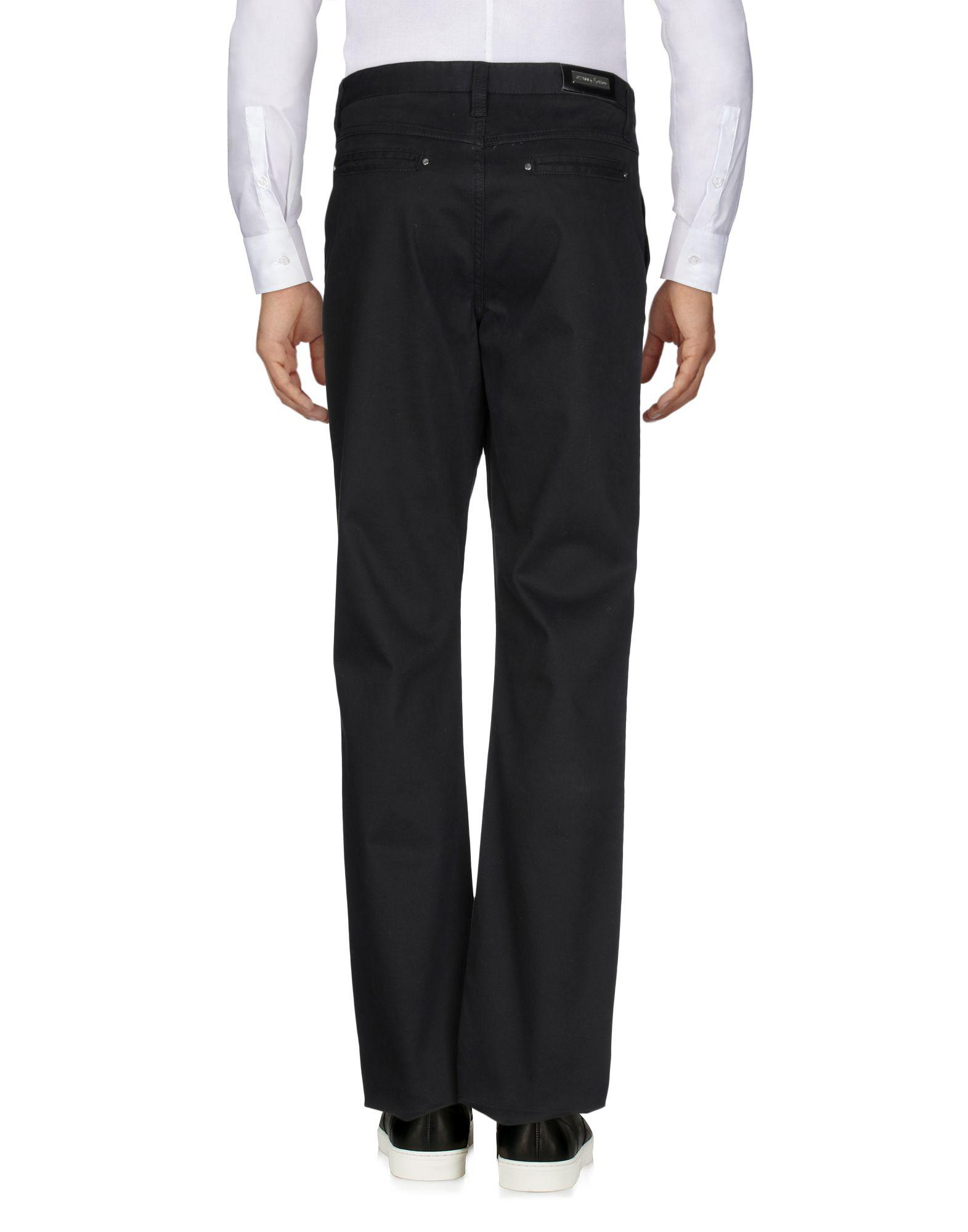 Guess Leather Casual Trouser in Black for Men