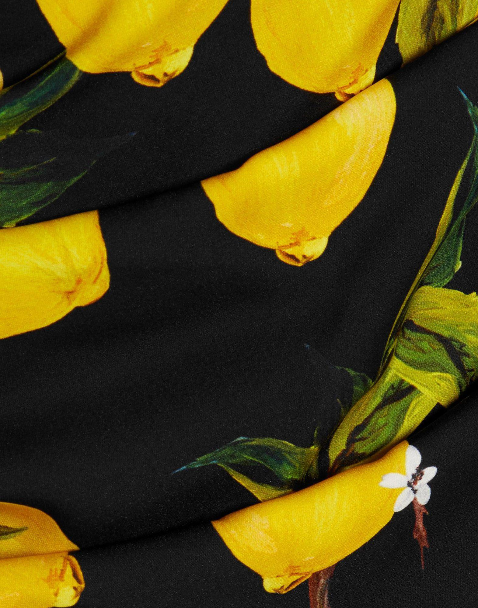 Dolce & Gabbana Silk Long Dress in Yellow
