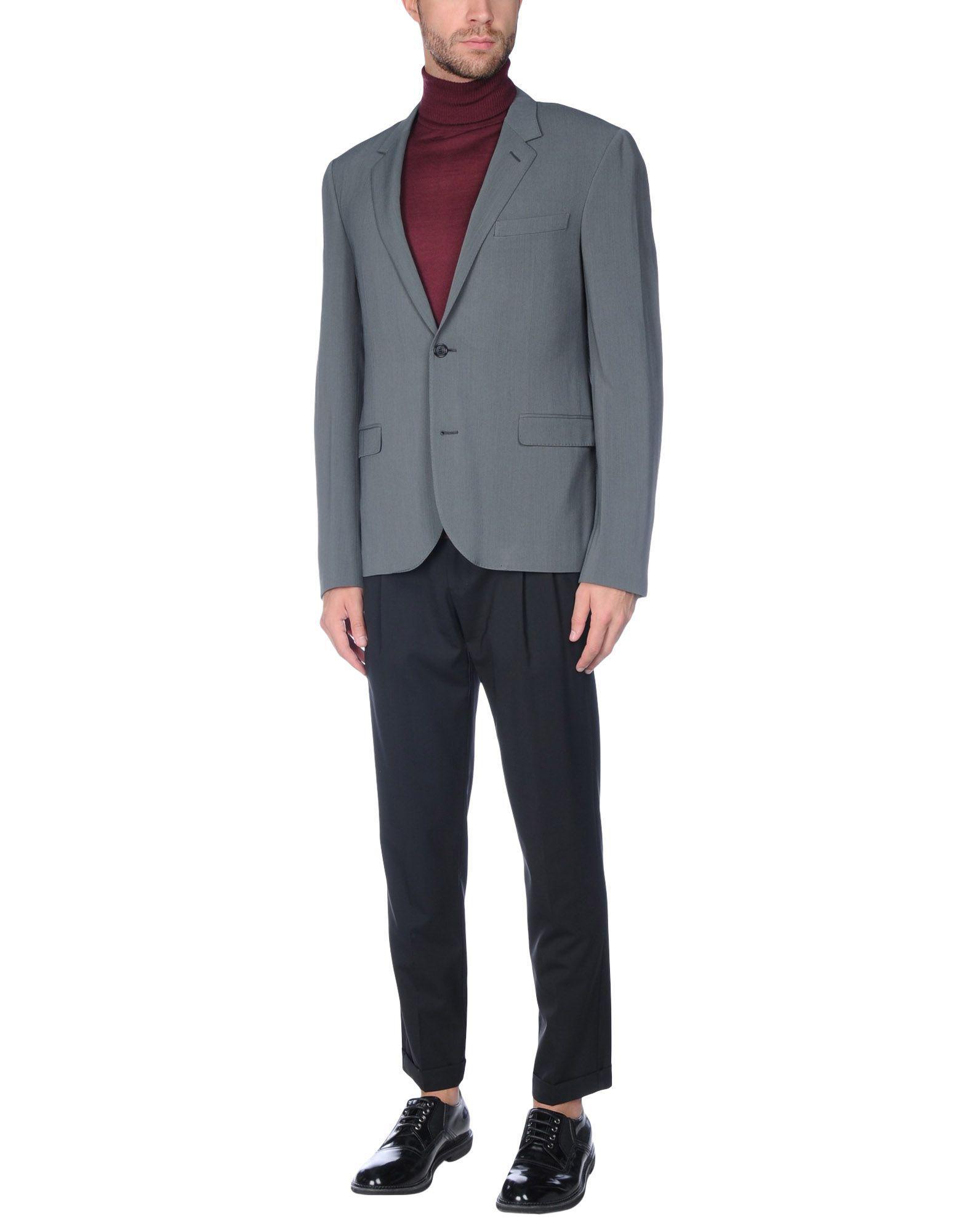 Lanvin Synthetic Blazer in Grey (Grey) for Men