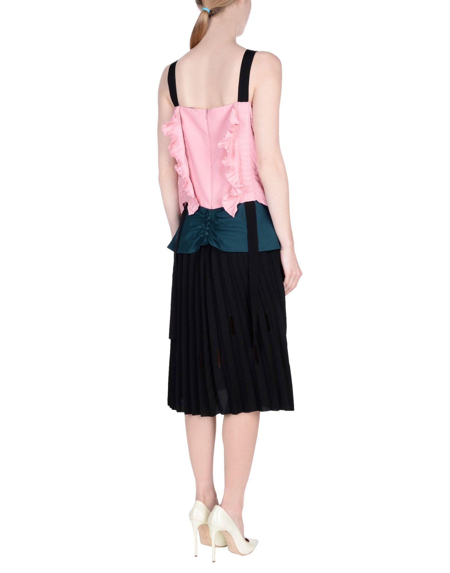 Vestido por la rodilla Marco De Vincenzo de Raso de color Rosa