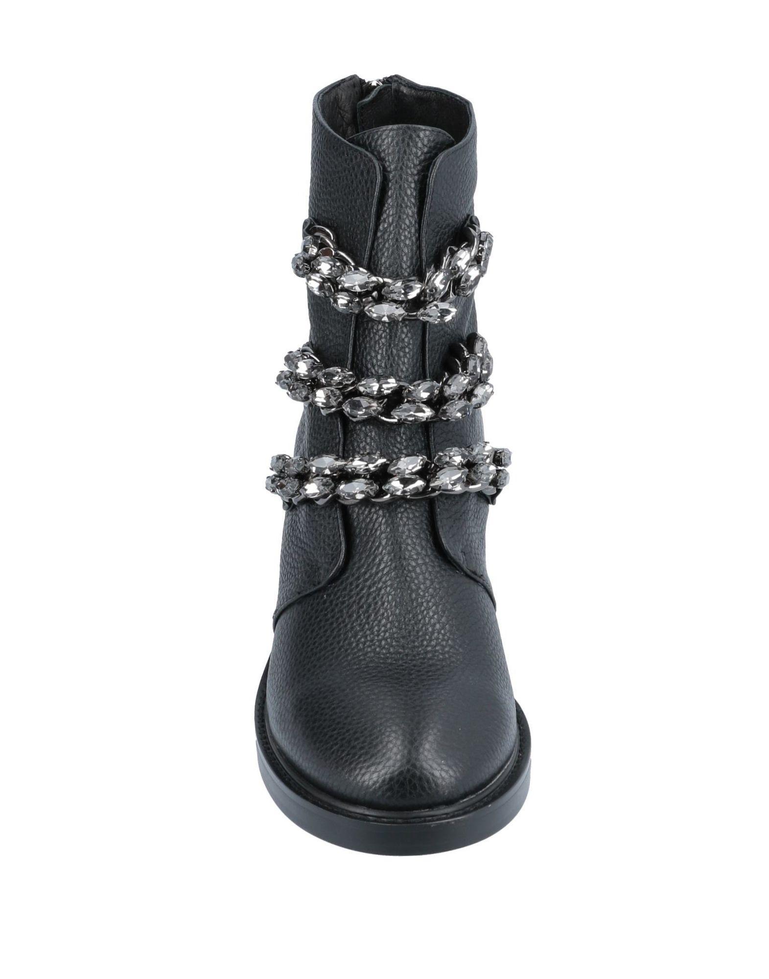 Botines de caña alta Lola Cruz de Cuero de color Negro
