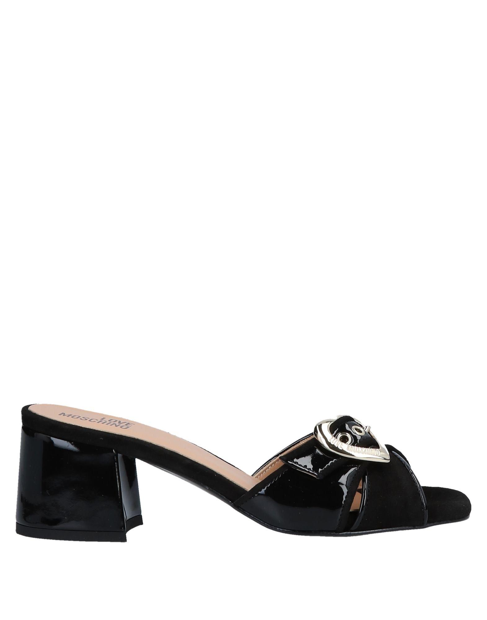 b2d50b3fca9 Lyst - Love Moschino Sandals in Black