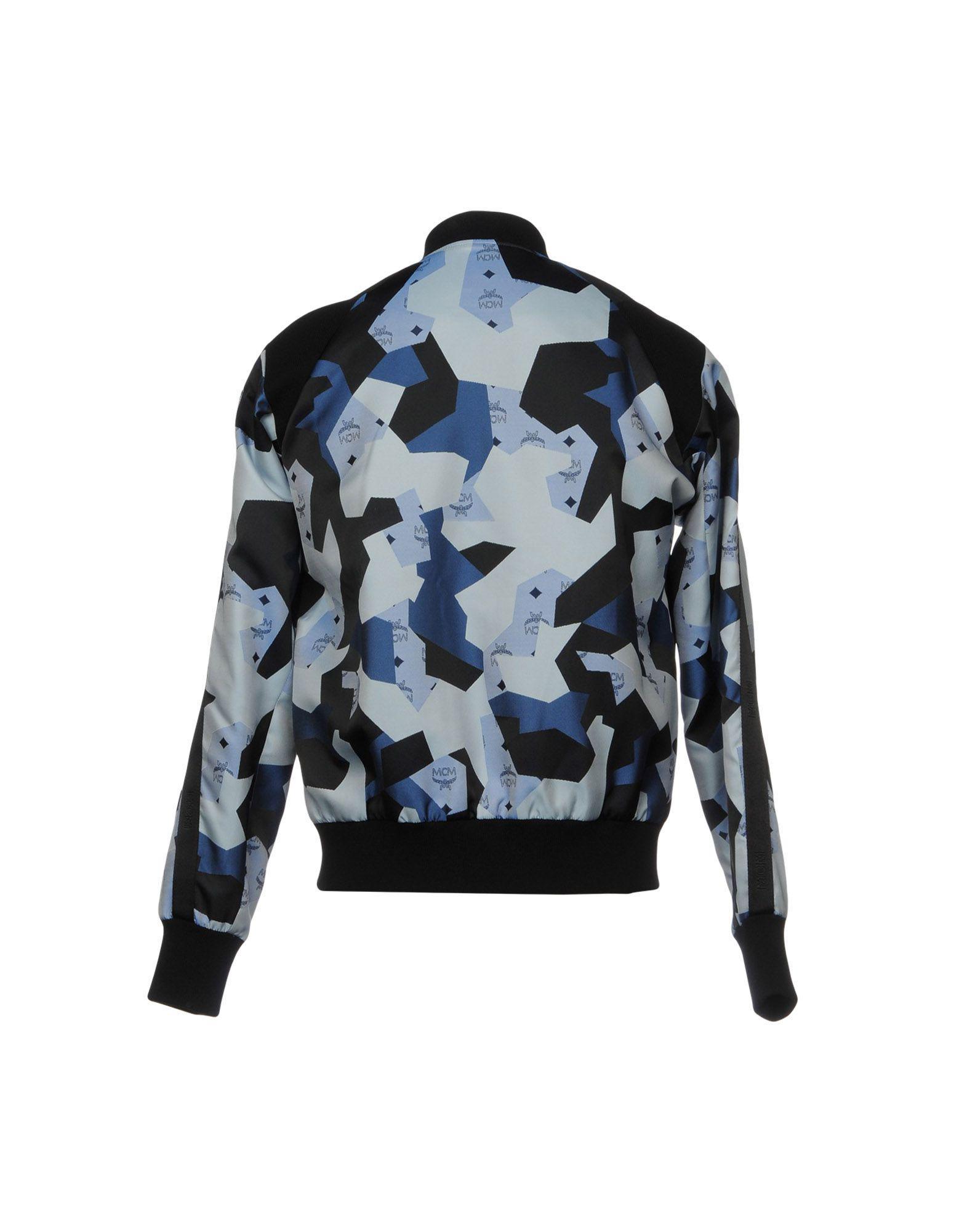 MCM Satin Jackets in Blue for Men