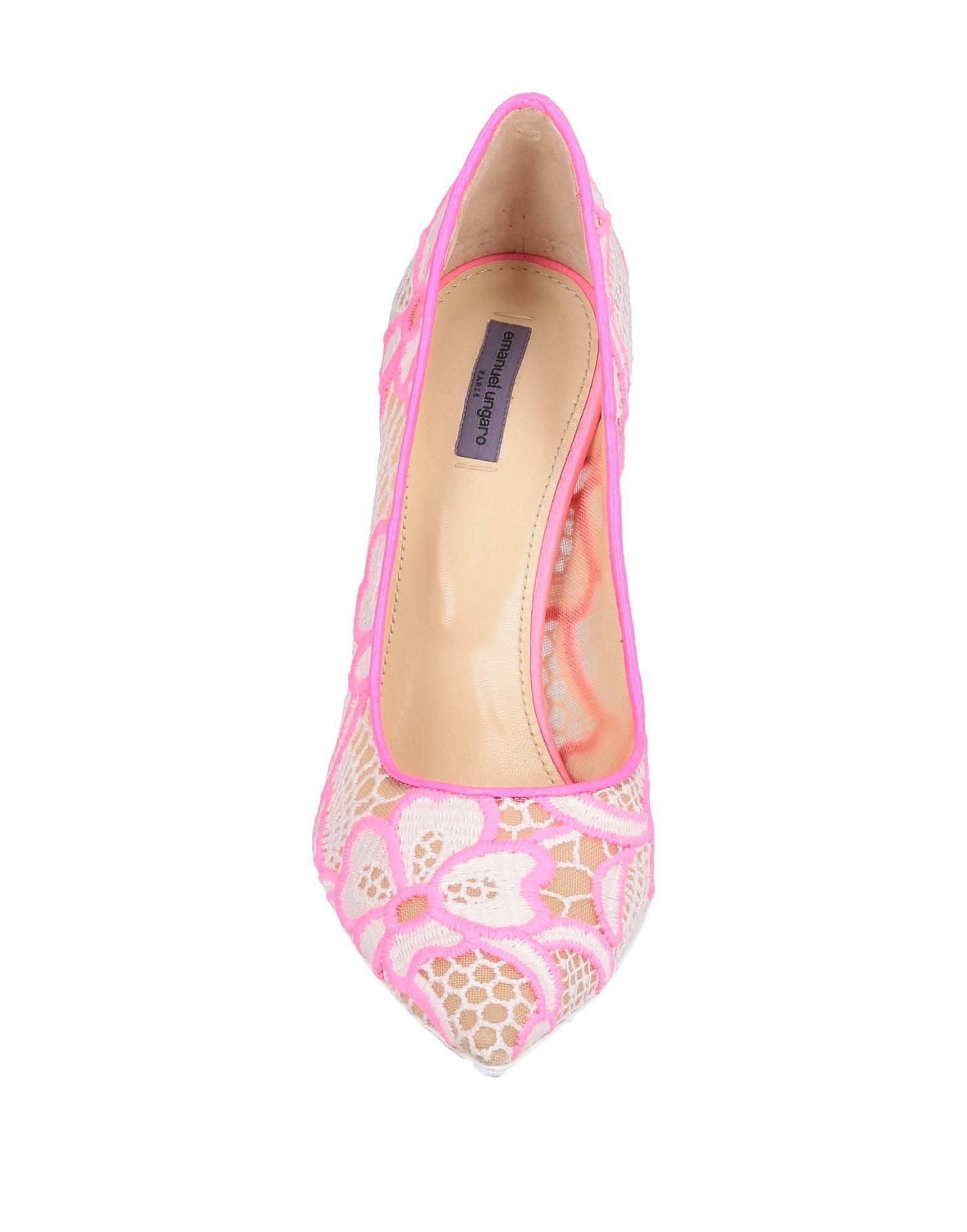 Zapatos de salón Emanuel Ungaro de Encaje de color Rosa