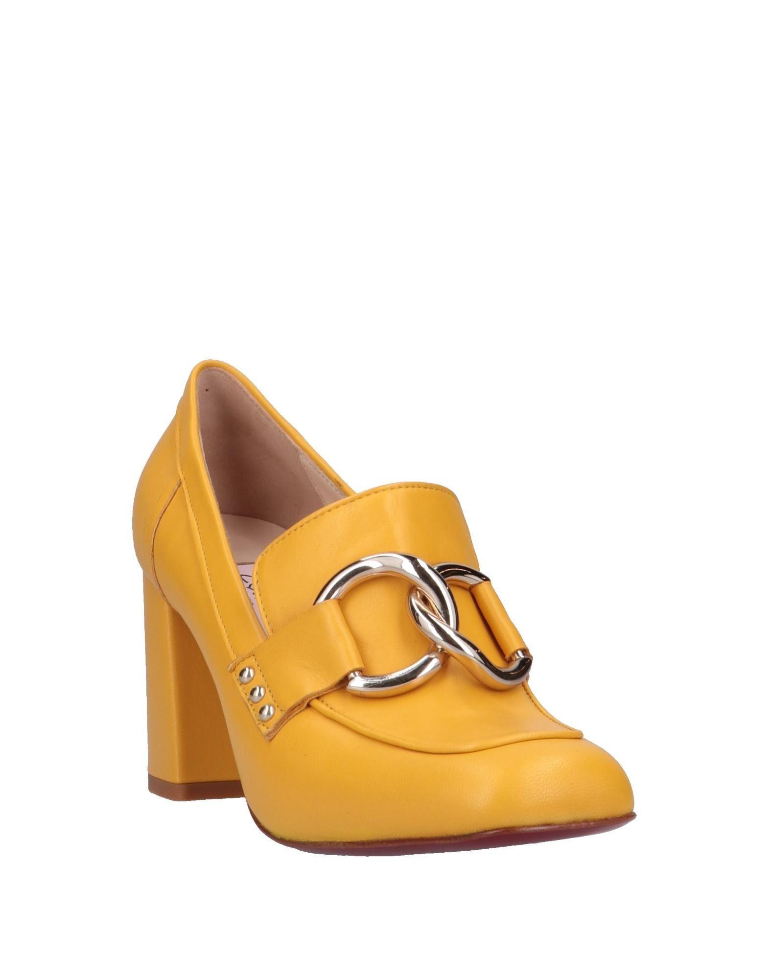 Mocasines Couture de Cuero de color Amarillo