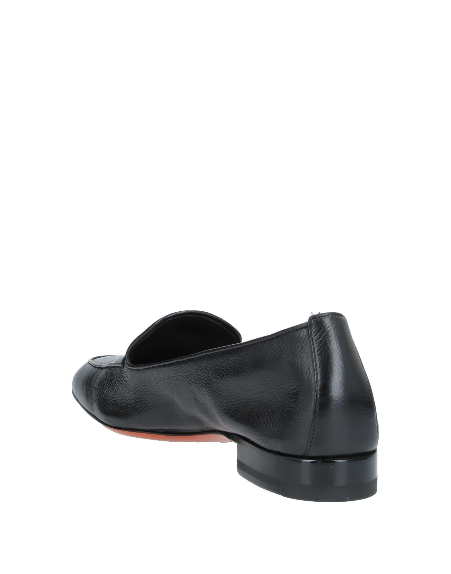 Mocasines Santoni de Cuero de color Negro