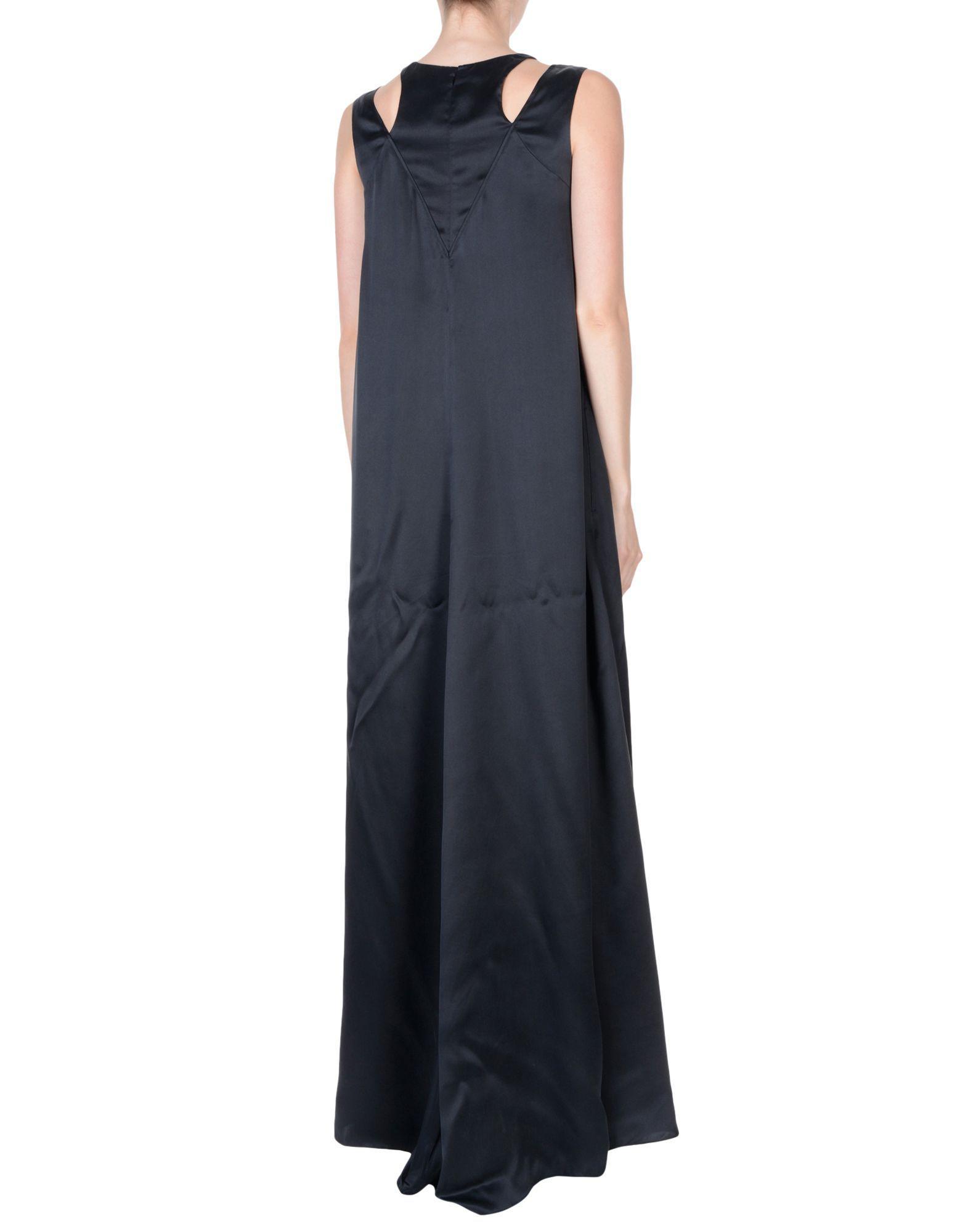 KENZO Satin Long Dress in Black