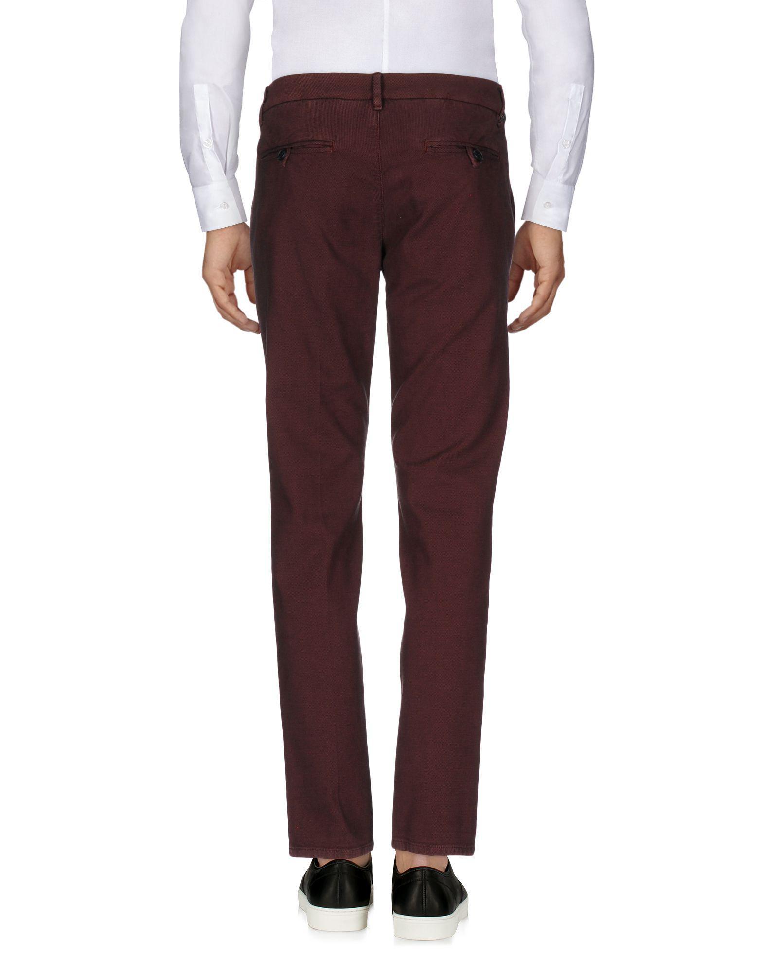Antony Morato Cotton Casual Pants in Maroon (Purple) for Men