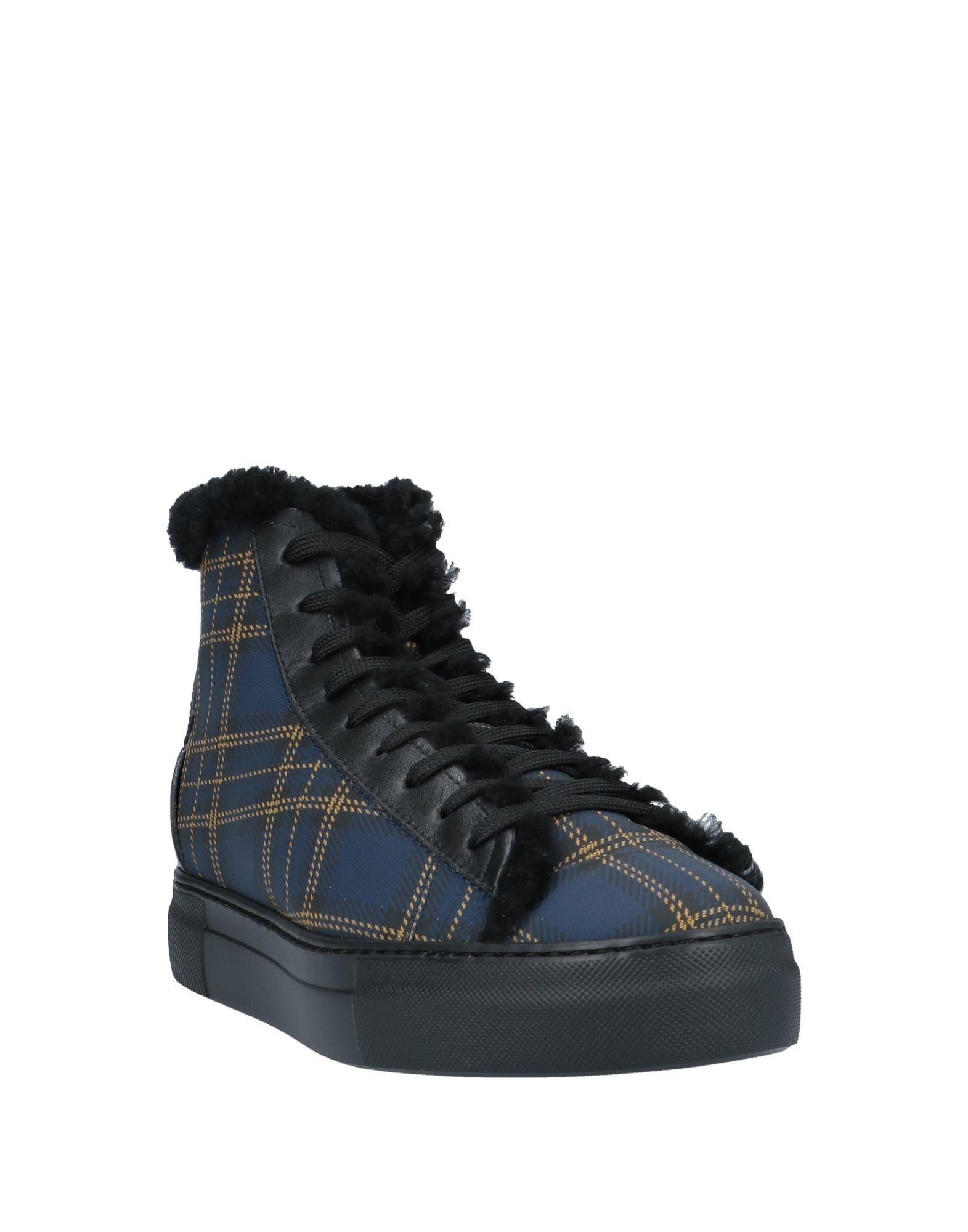 Sneakers abotinadas Fabi de Cuero de color Azul