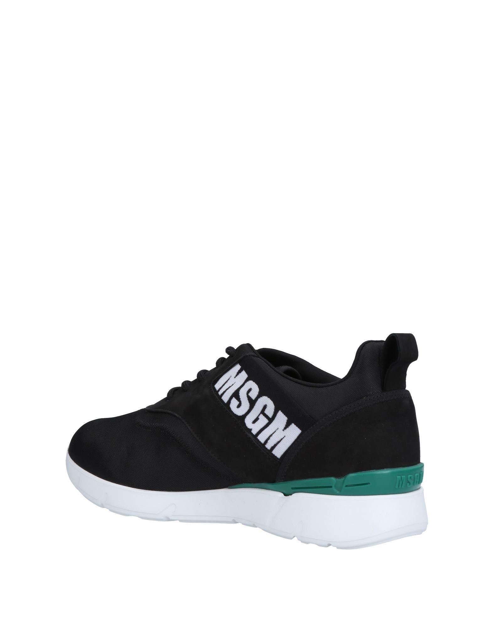 Sneakers & Deportivas MSGM de Cuero de color Negro para hombre