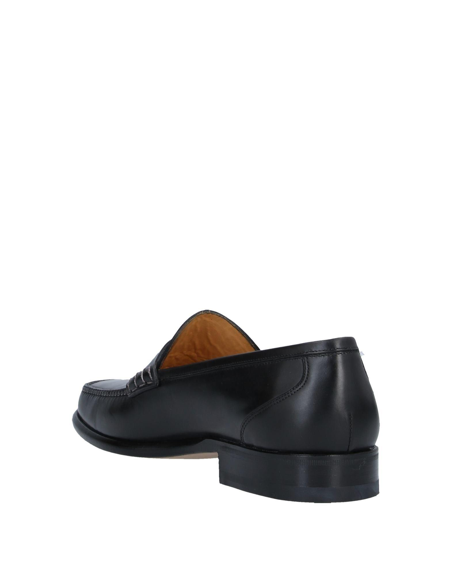 Mocasines Santoni de Cuero de color Negro para hombre